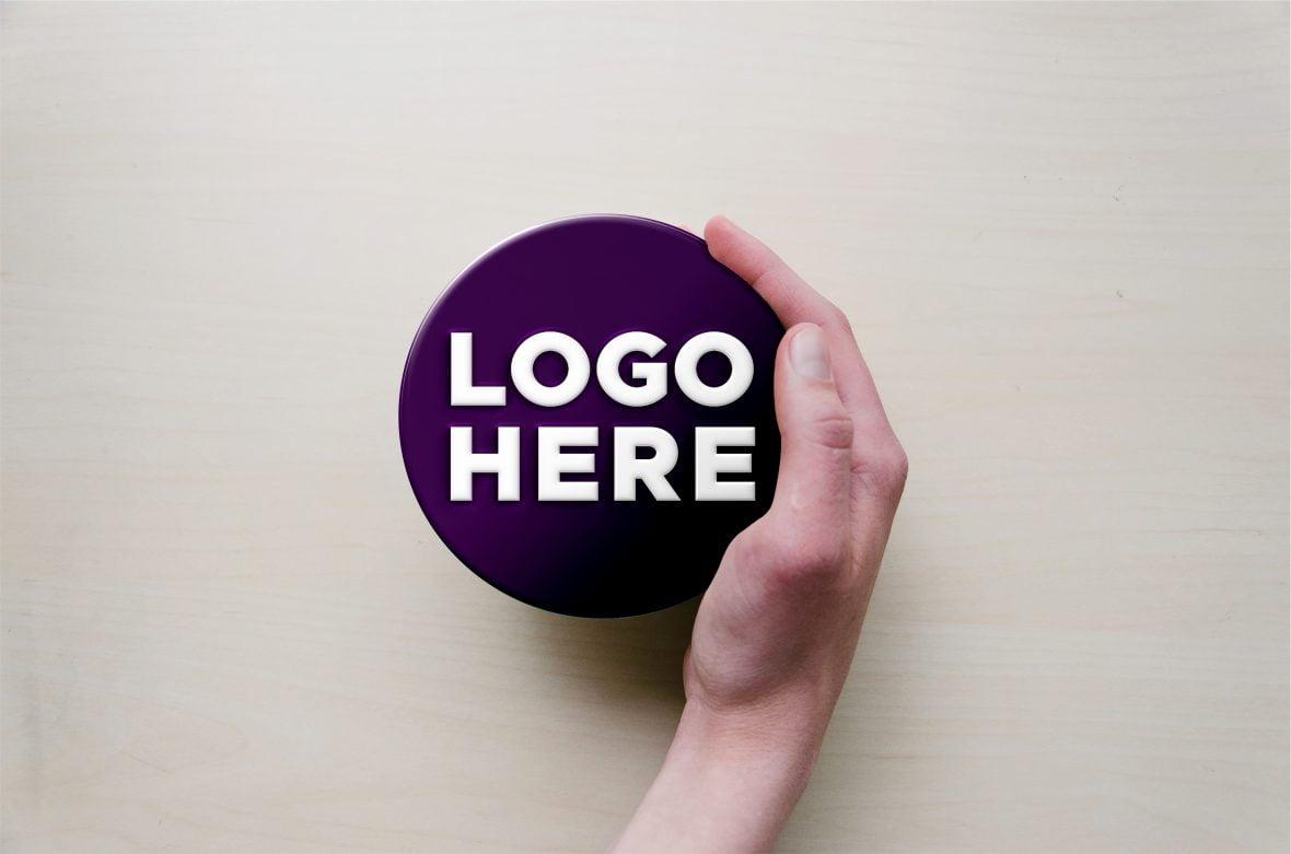 Free Hand Logo Mockup