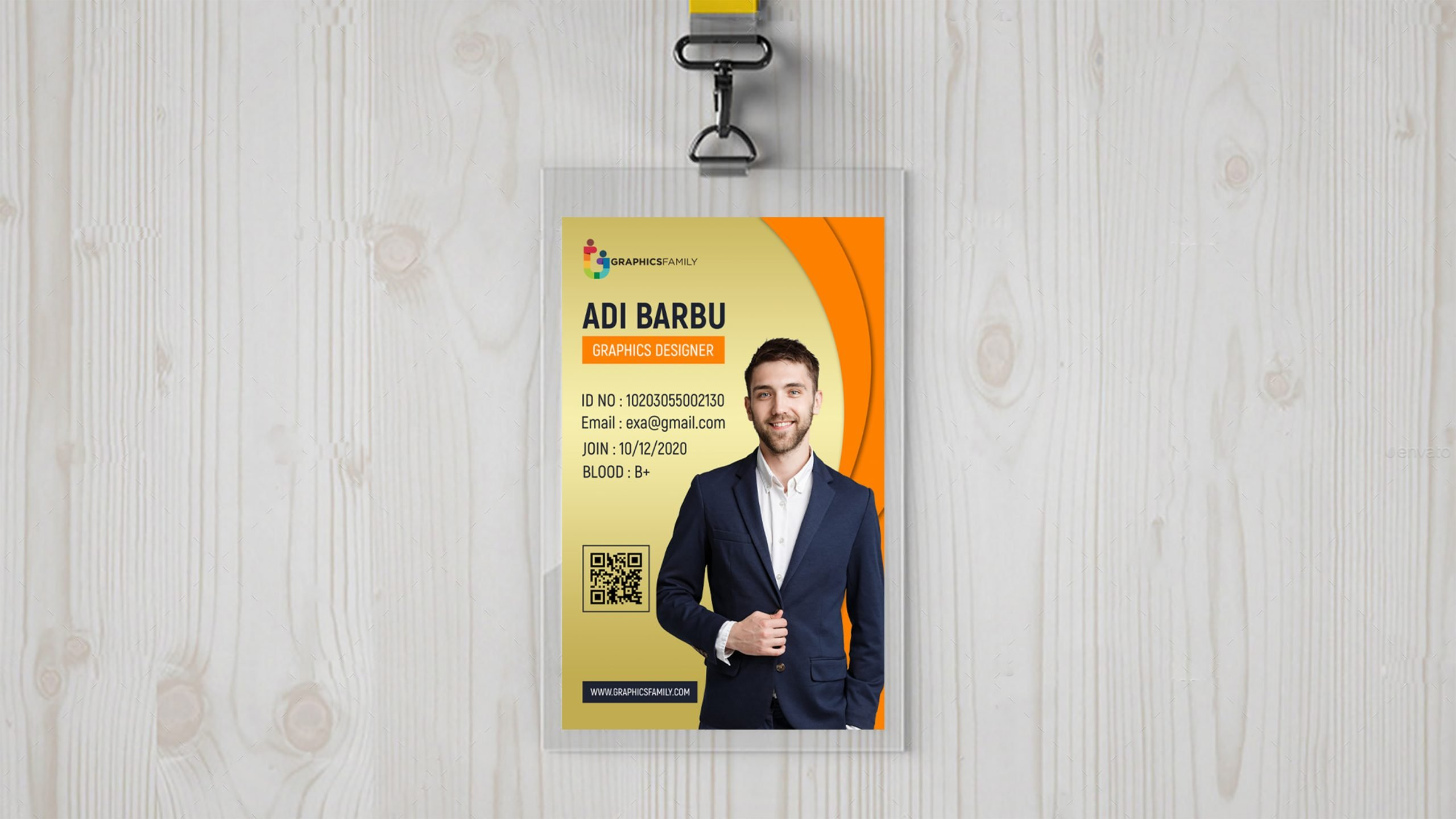 Free IT Company Id Card Design Template PSD