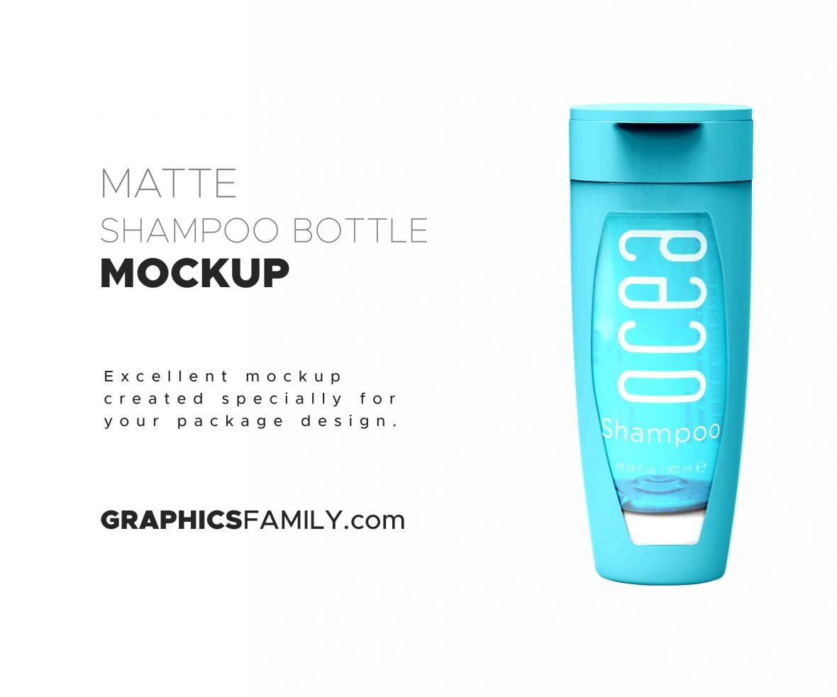 Free-Matte-Shampoo-Bottle-with-Flip-Top-Cap-Mocku