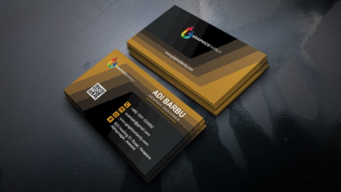 Modern Graphic Designer Business Card Design - GraphicsFamily