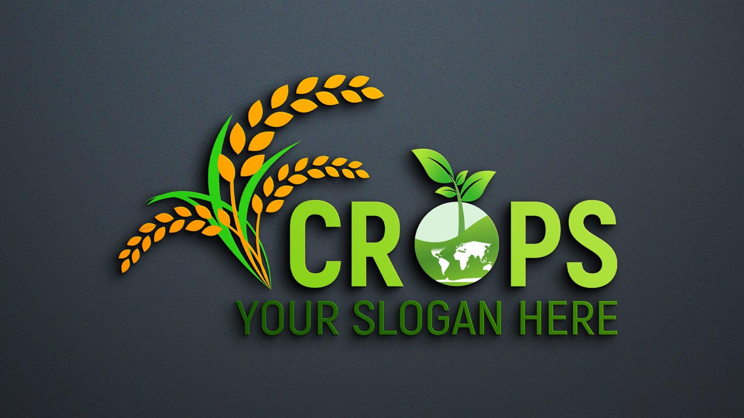 Free PSD Clean Farm Agriculture Logo Design