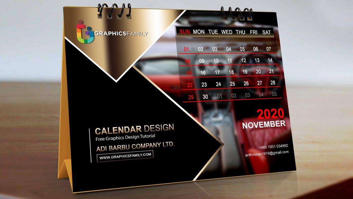 Free Photoshop Modern Calendar Design