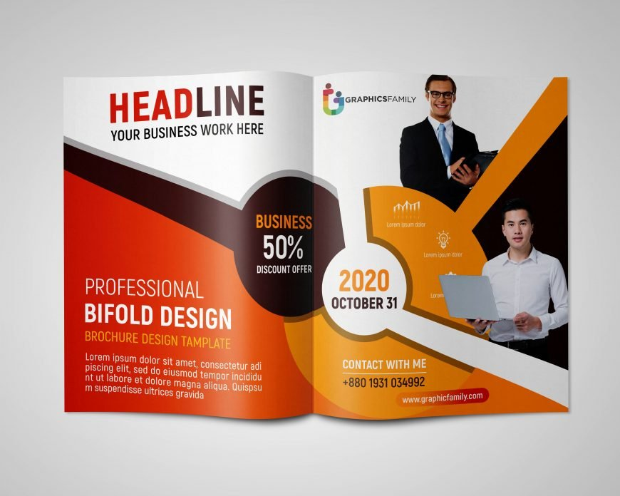 Free Professional Brochure Design in Photoshop