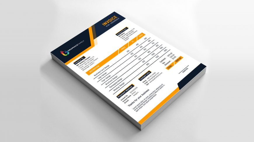 Free Professional Invoice Design
