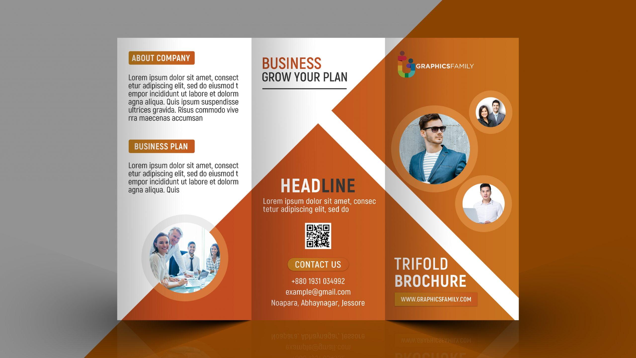Free Professional Tri Fold Brochure Template