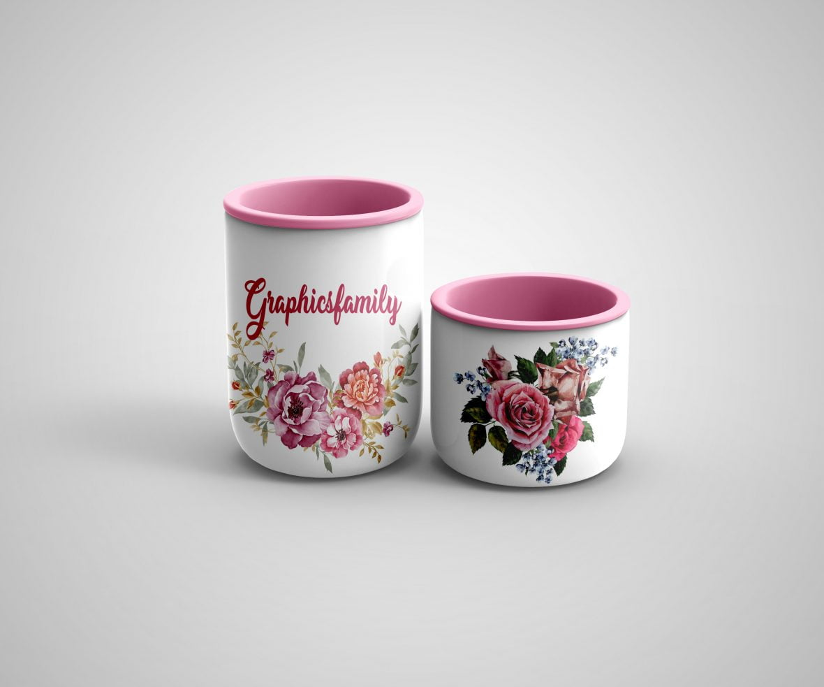 Free Sugar Cup Mockup by GraphicsFamily