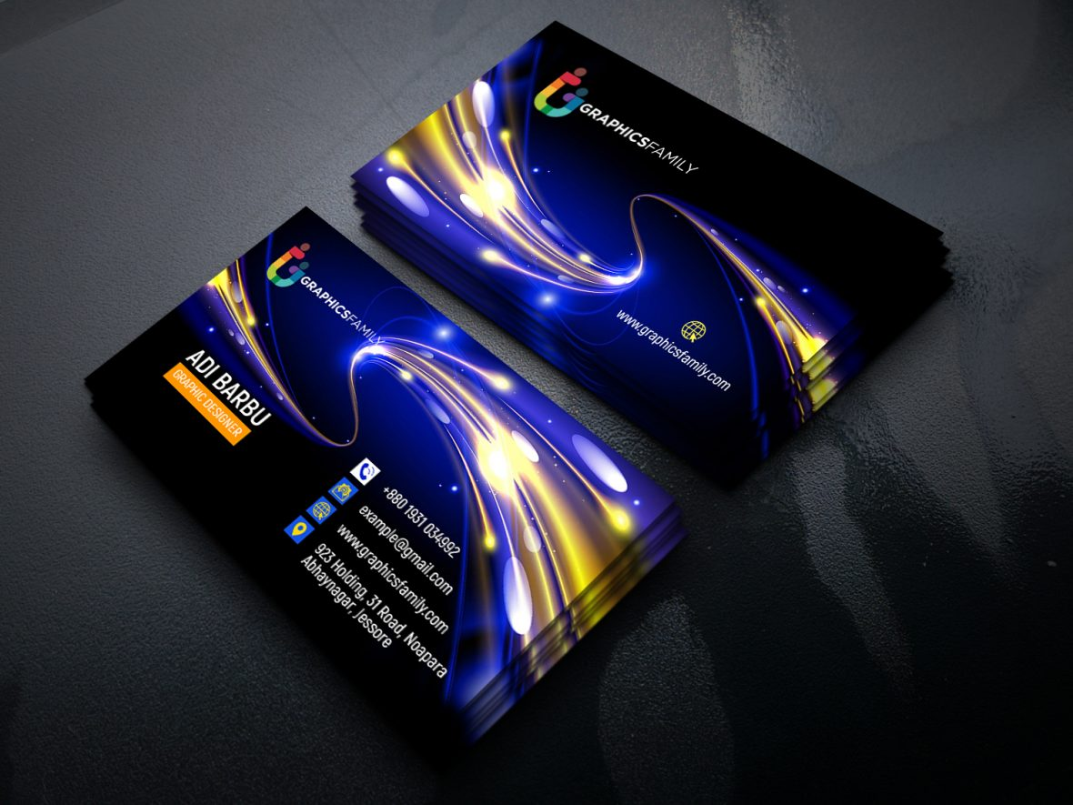 Futuristic Business Card Design