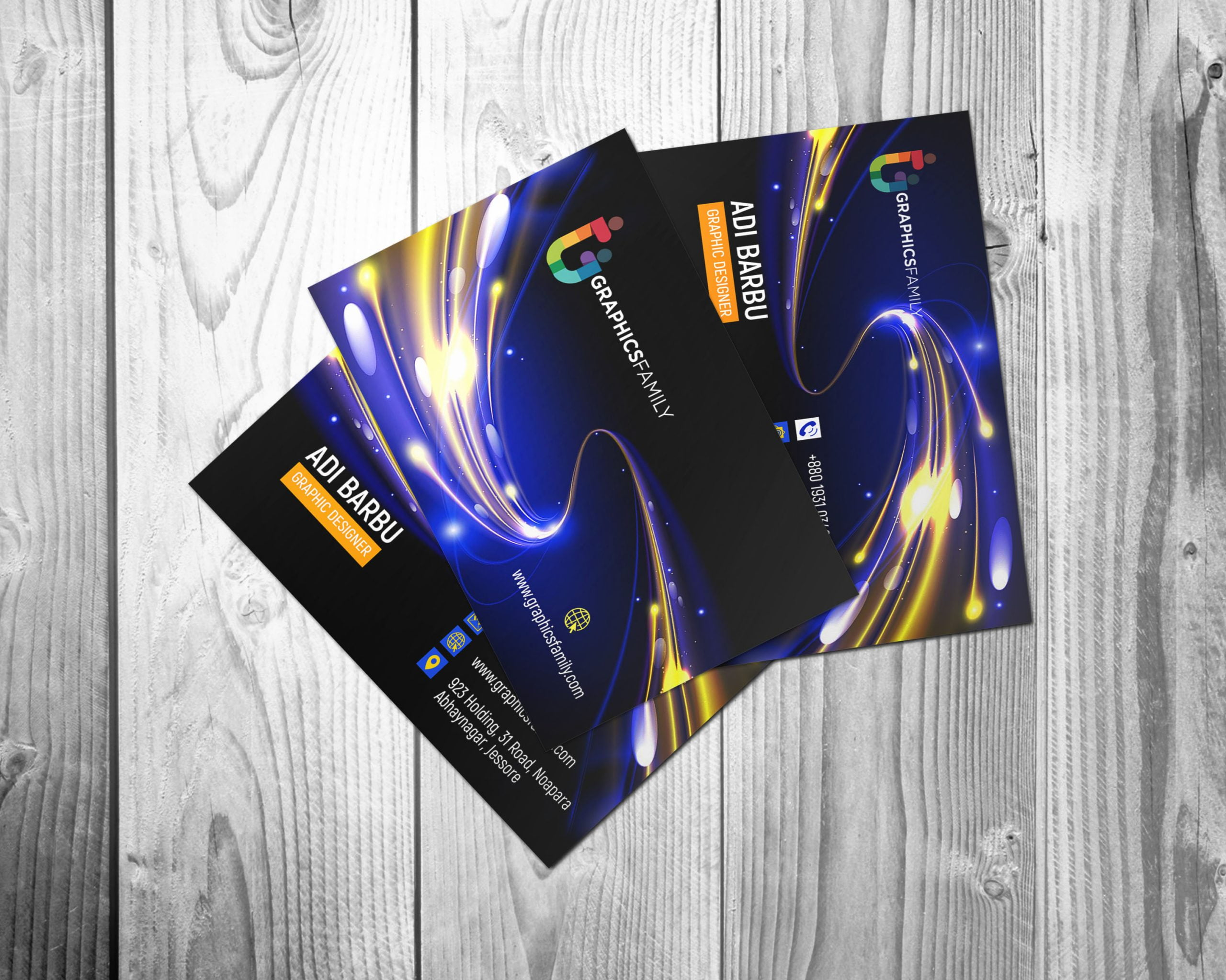 Futuristic Business Card Design Download