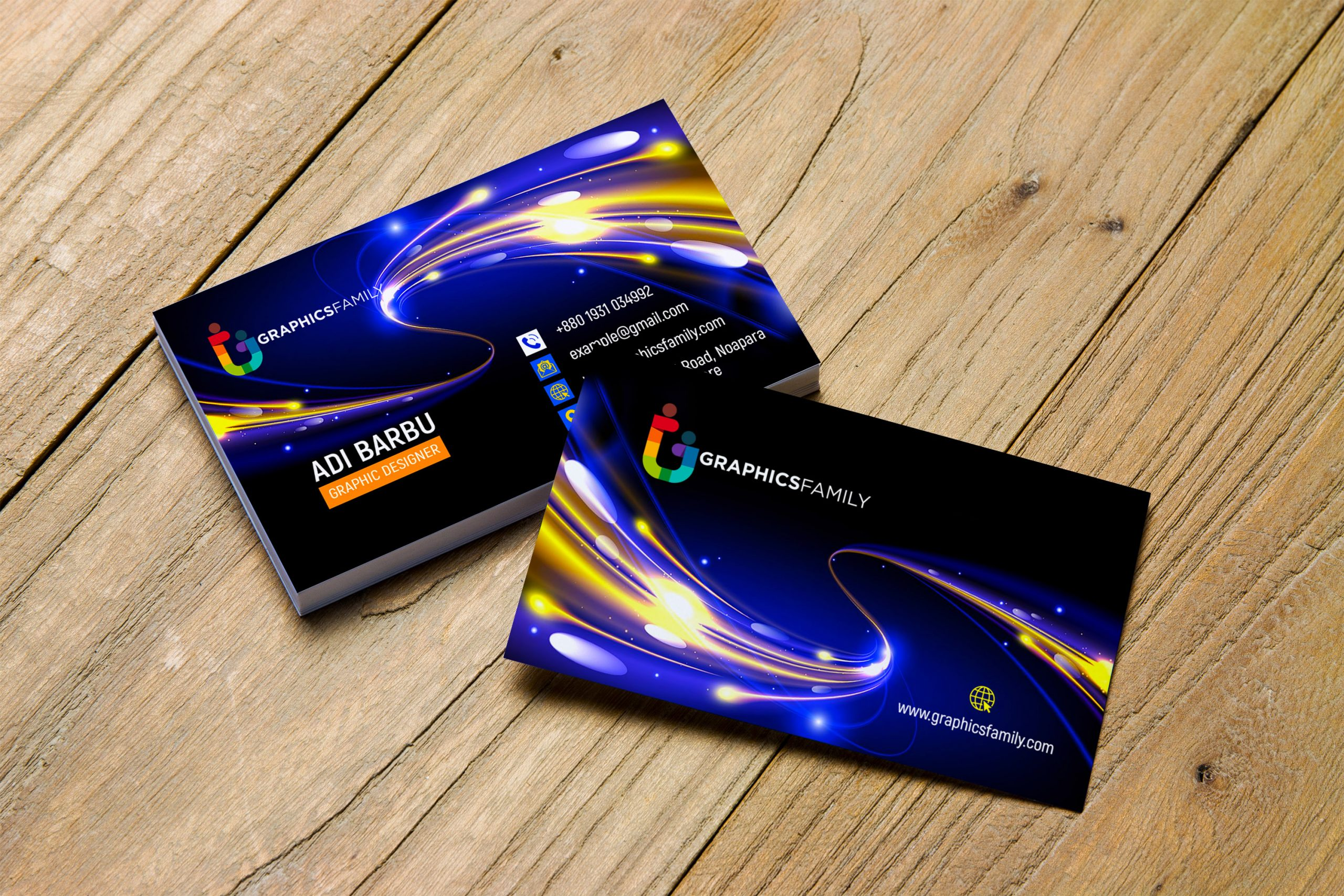 Futuristic Business Card Design PSD