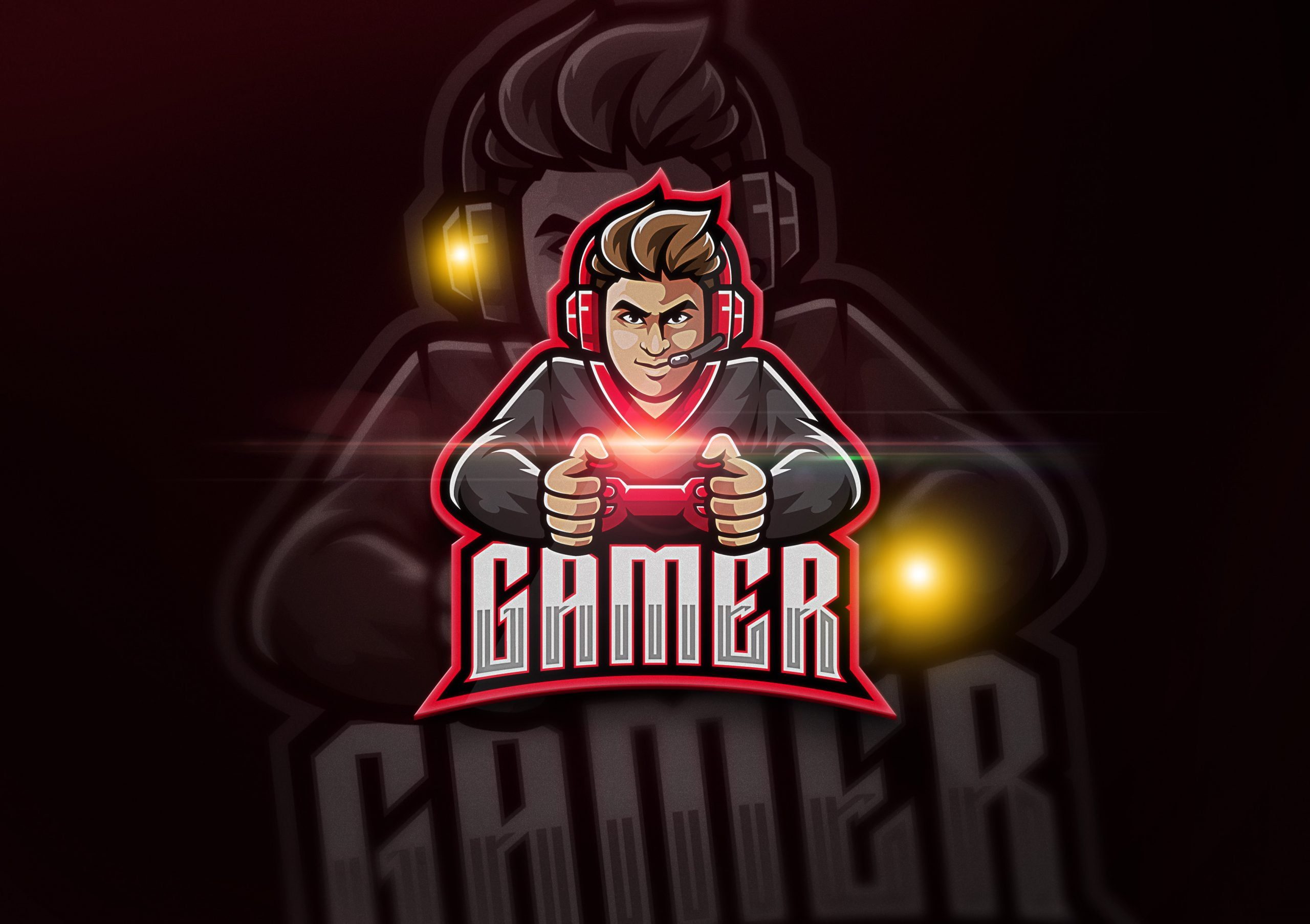 Gaming-Mascot-Logo-Mockup
