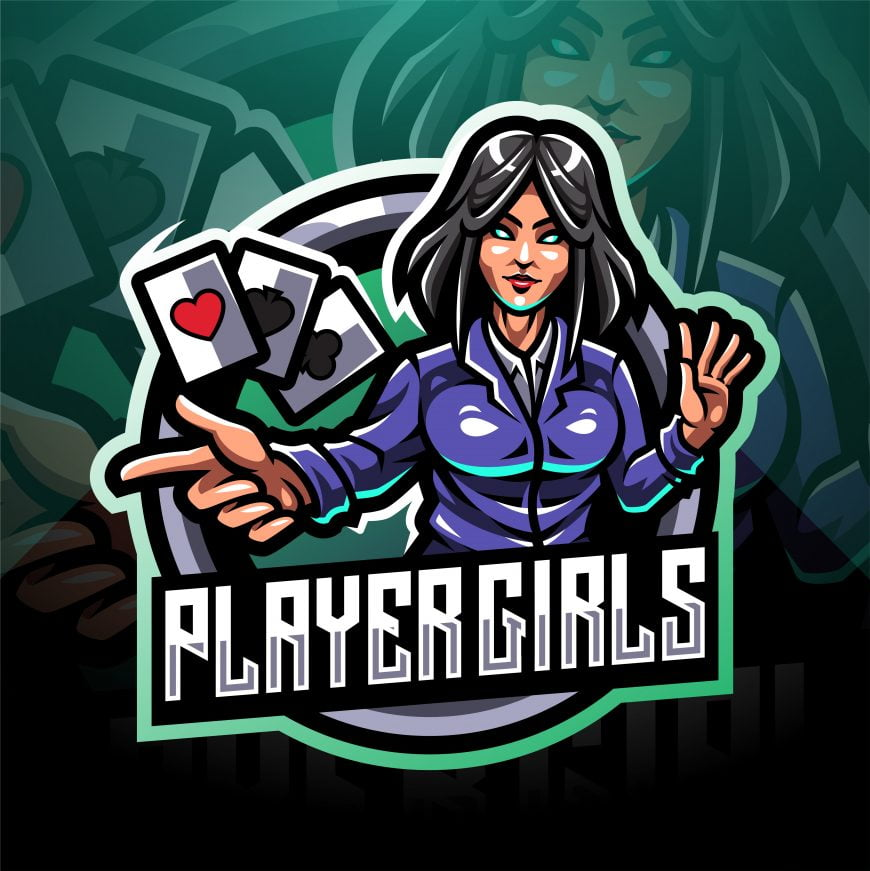 Girls Players Esports Mascot Logo