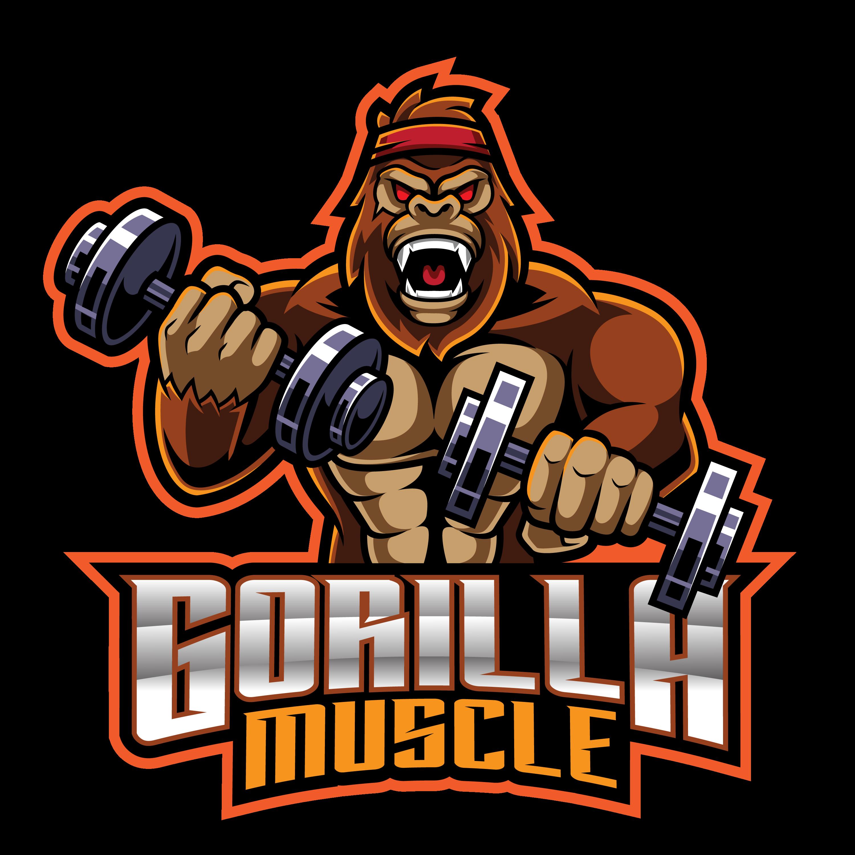 Gorilla-Muscle-Mascot-Logo-PNG-Transparent