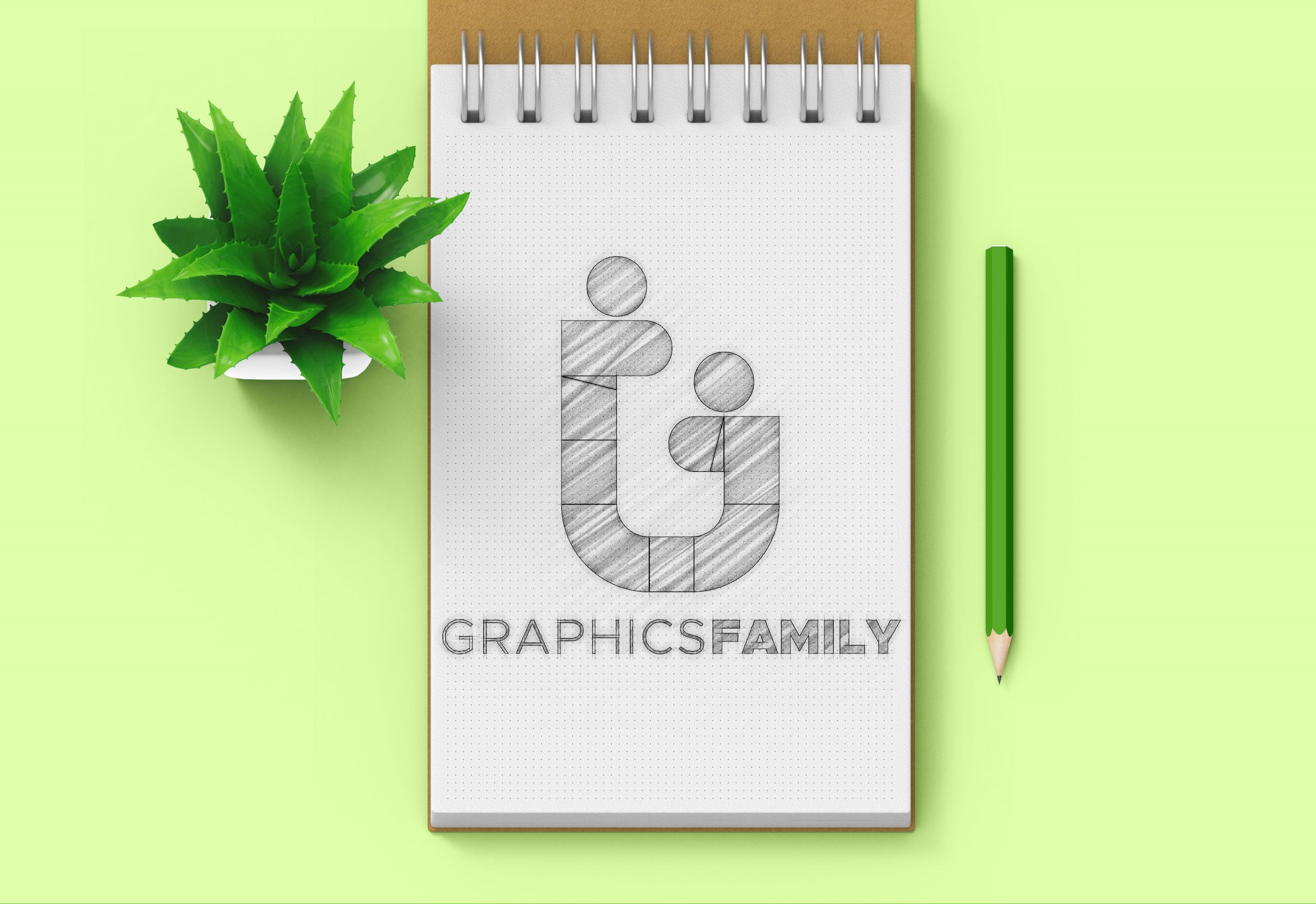 GraphicsFamily-Free-Dotted-Sketchbook-Logo-Mockup