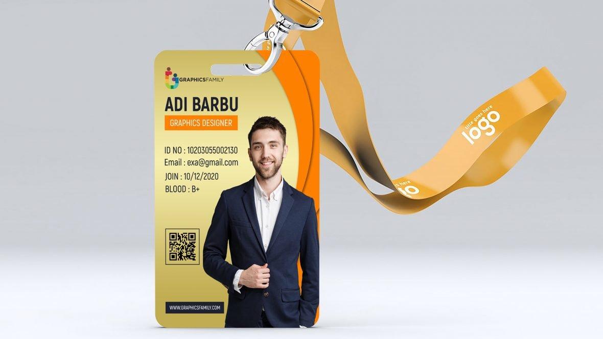 IT Company Id Card Design Template PSD