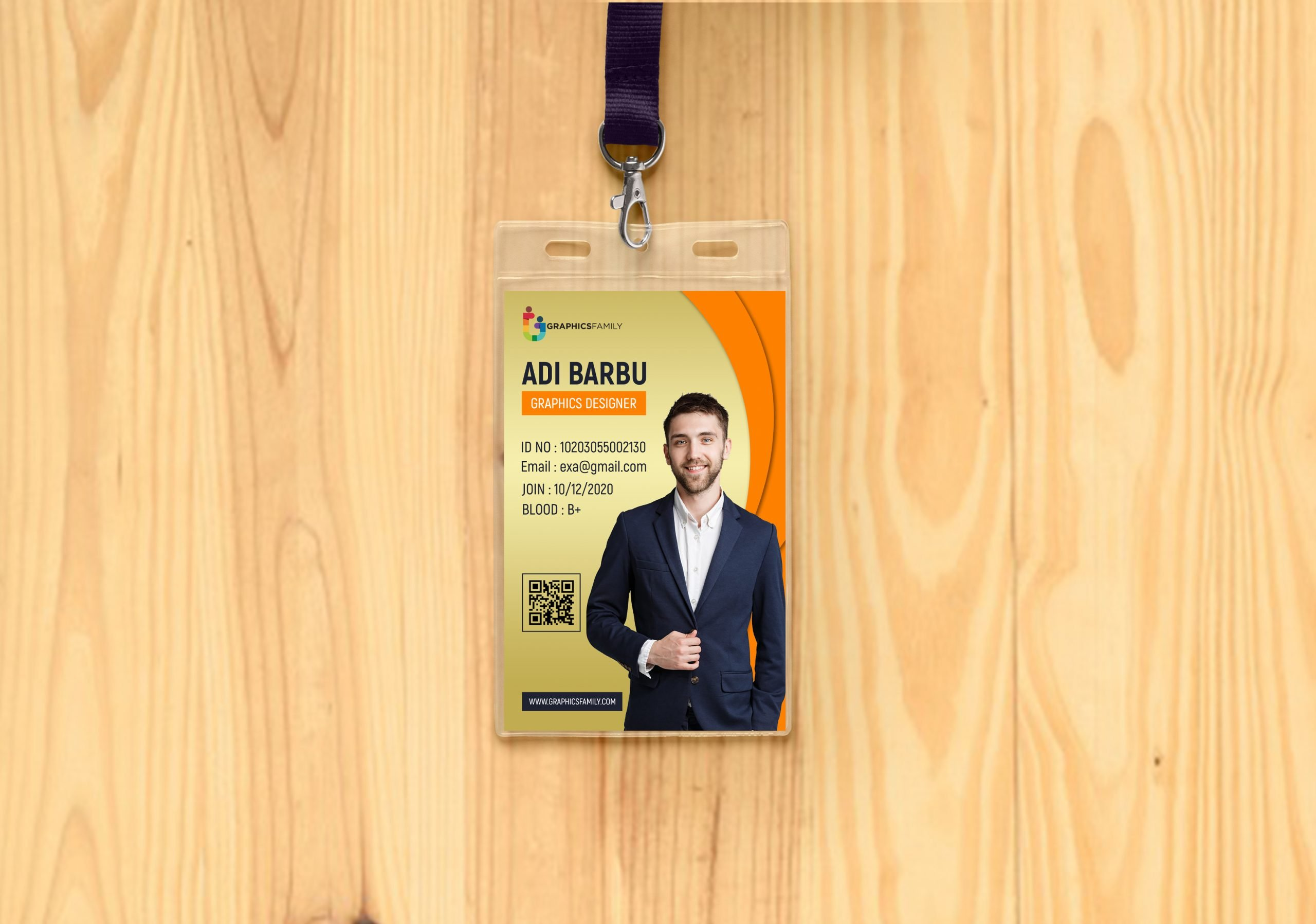 IT Company Id Card Design Template PSD Download