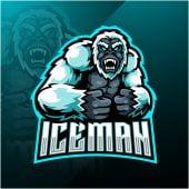 Iceman Mascot Logo