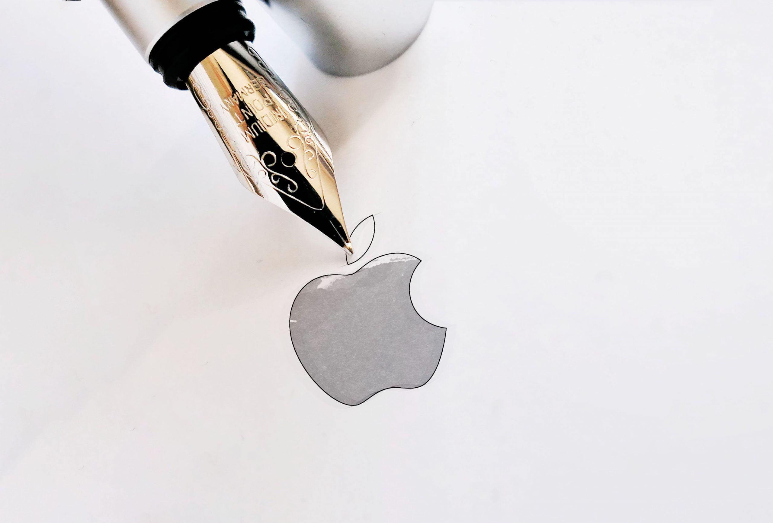 Ink Pen Logo Mockup 01 Apple
