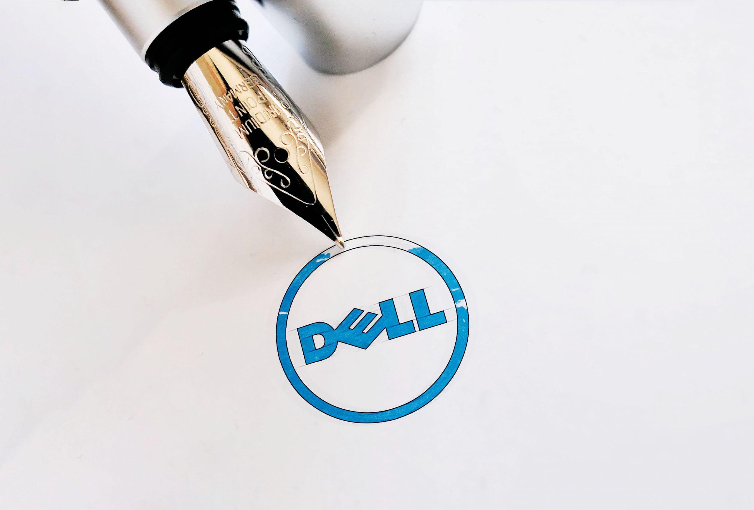 Ink Pen Logo Mockup 01 Dell