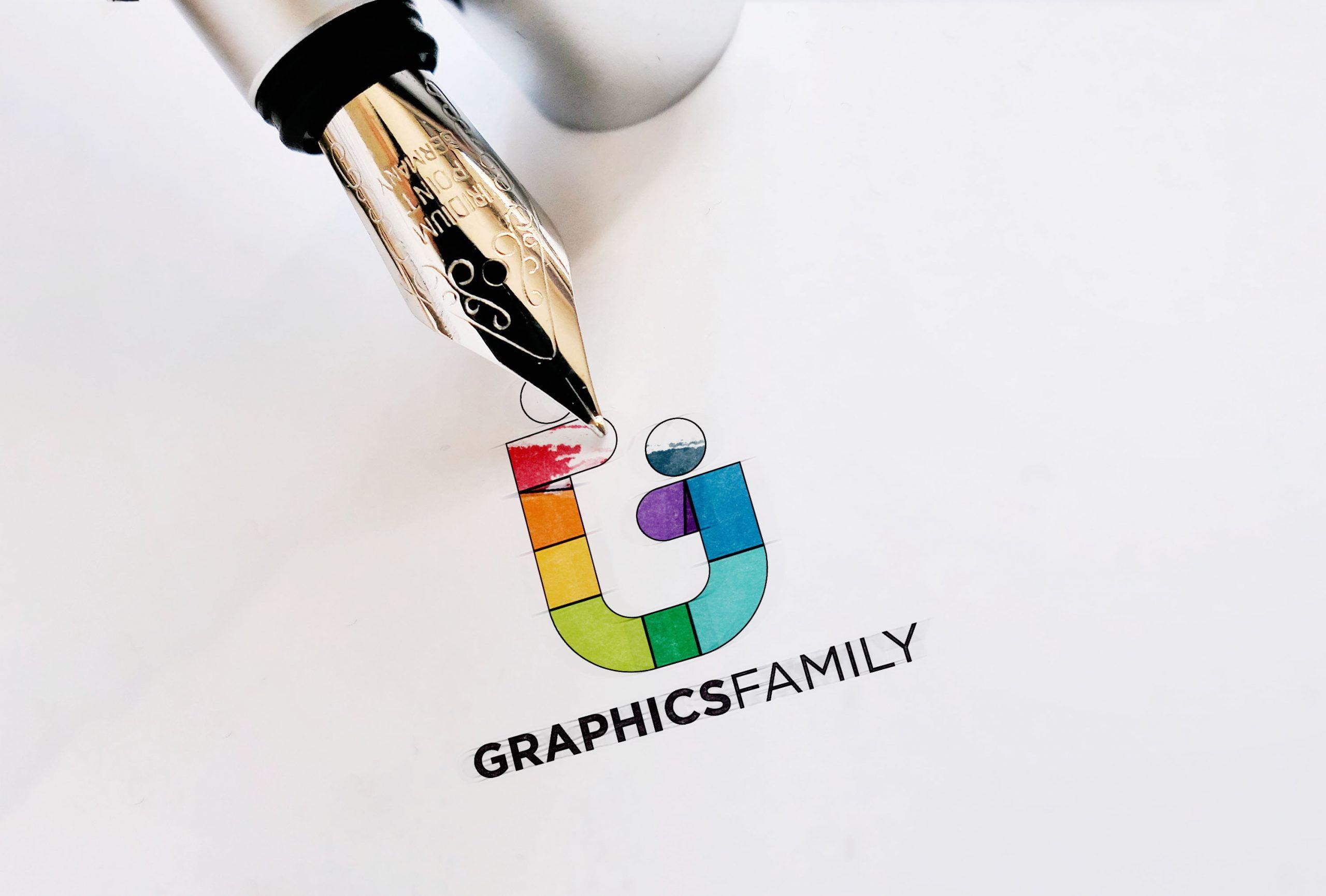 Ink Pen Logo Mockup 01 Graphicfamily