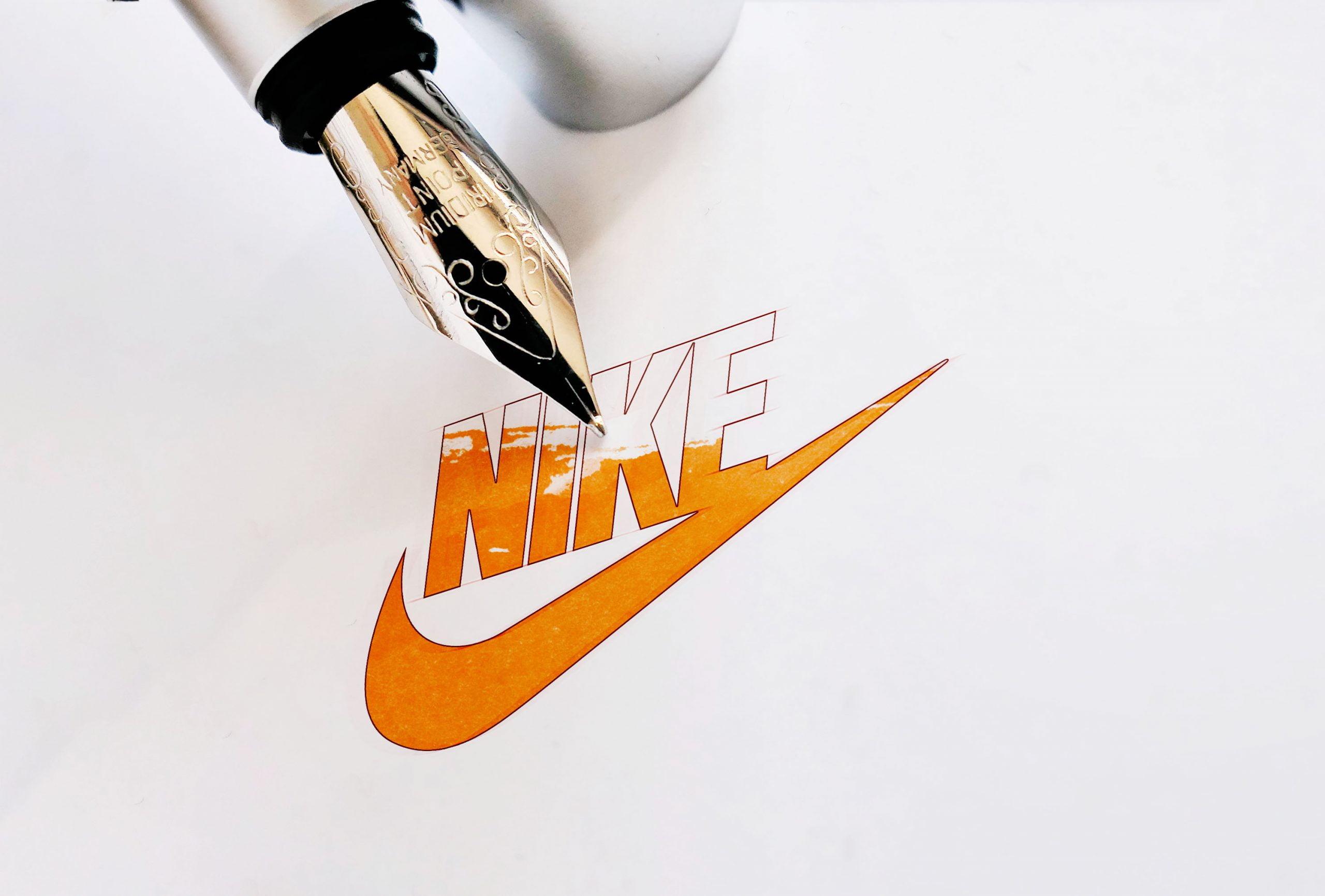 Ink Pen Logo Mockup 01 Nike