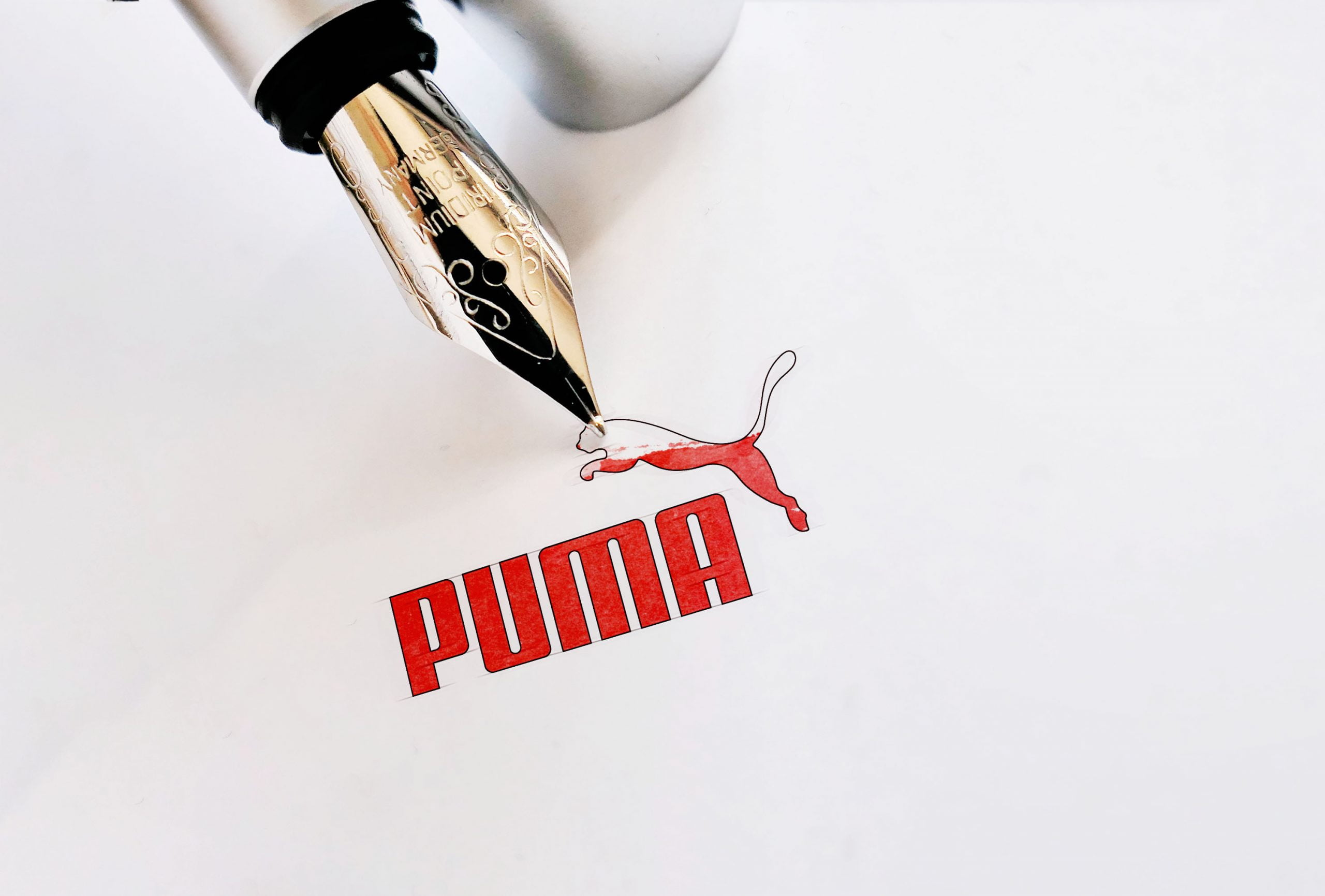 Ink Pen Logo Mockup 01 Puma
