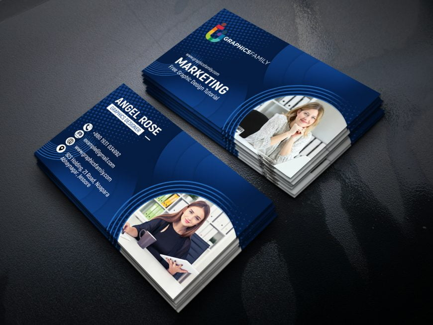 Marketing & Communications Business Cards Template