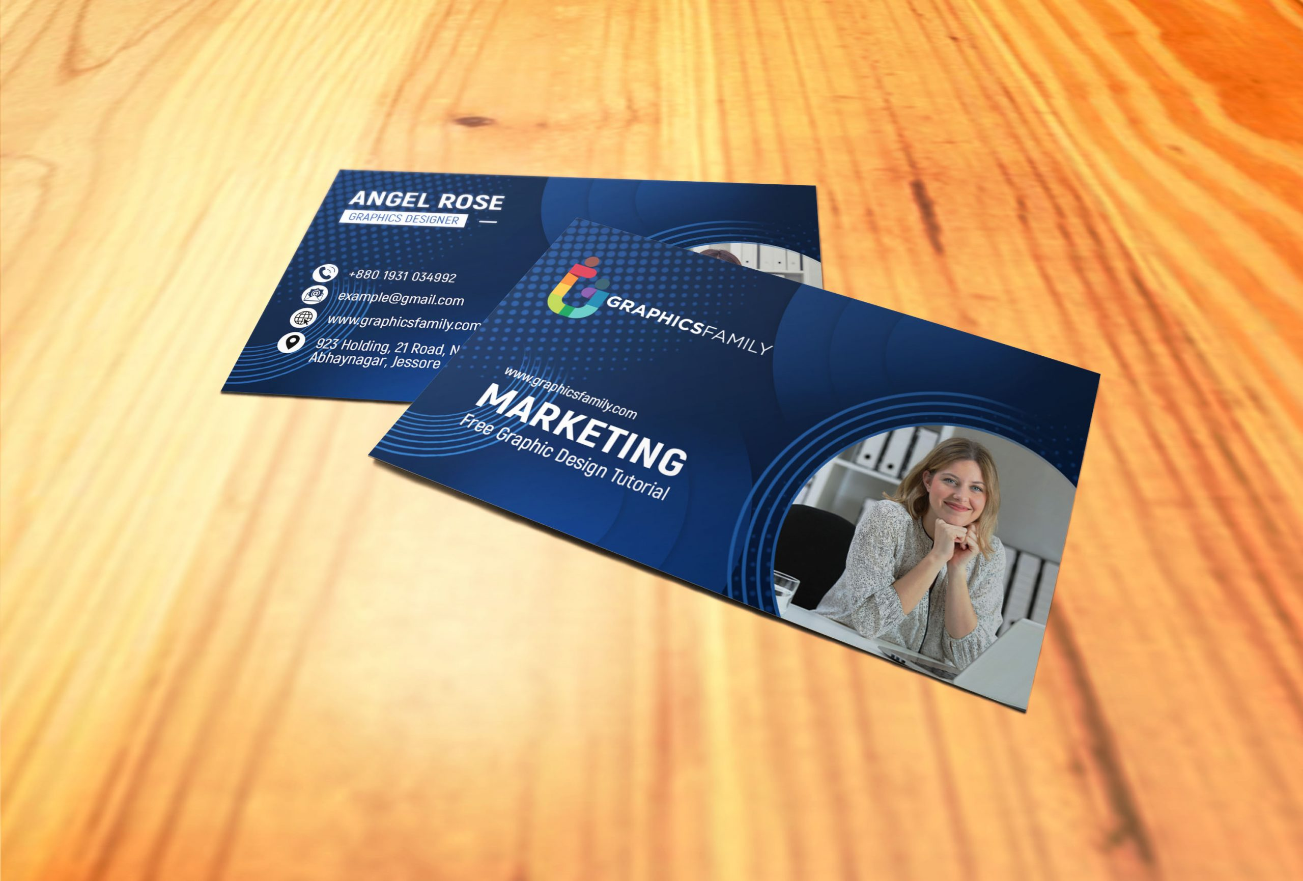 Marketing & Communications Business Cards Template Download