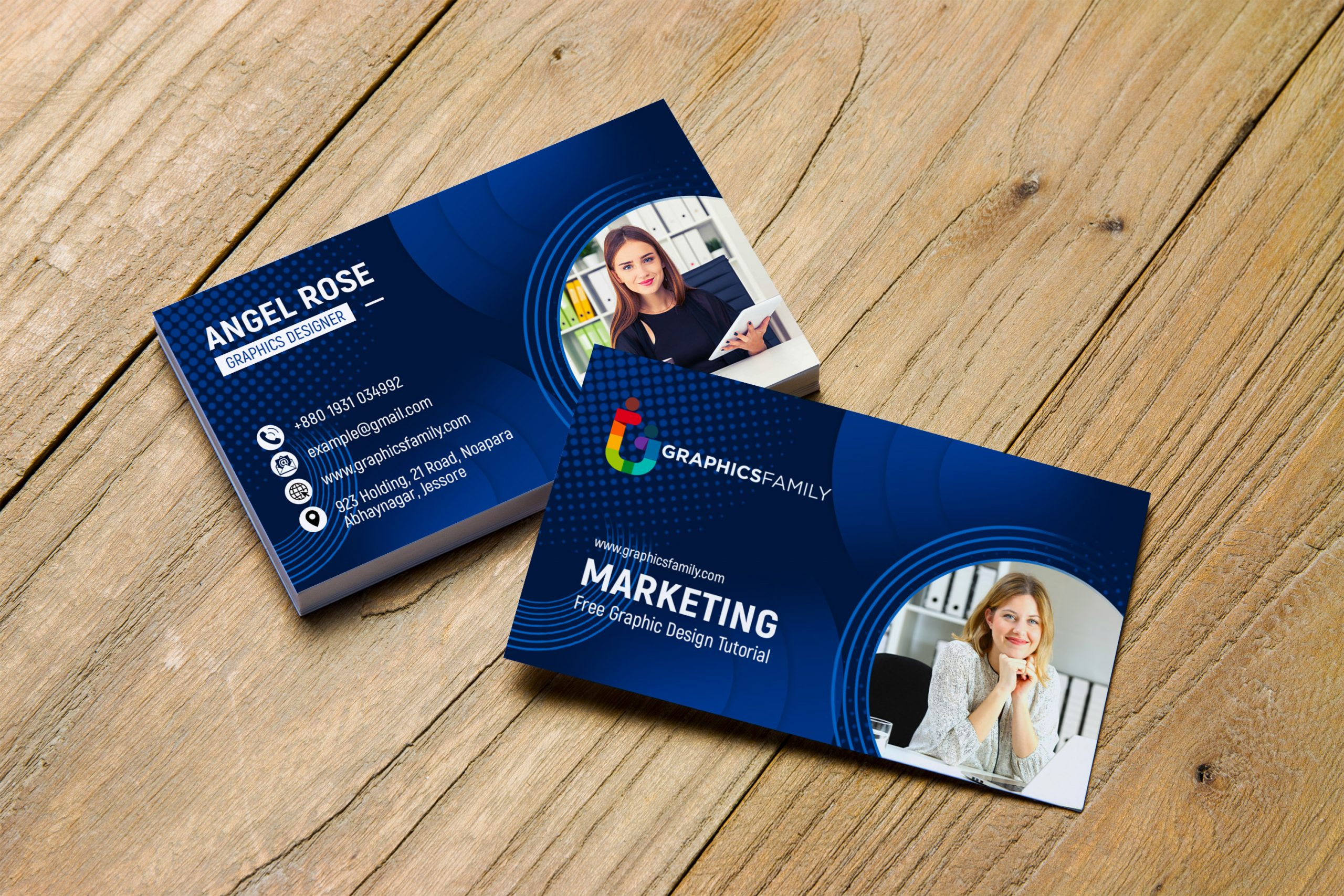Marketing & Communications Business Cards Template Free Download