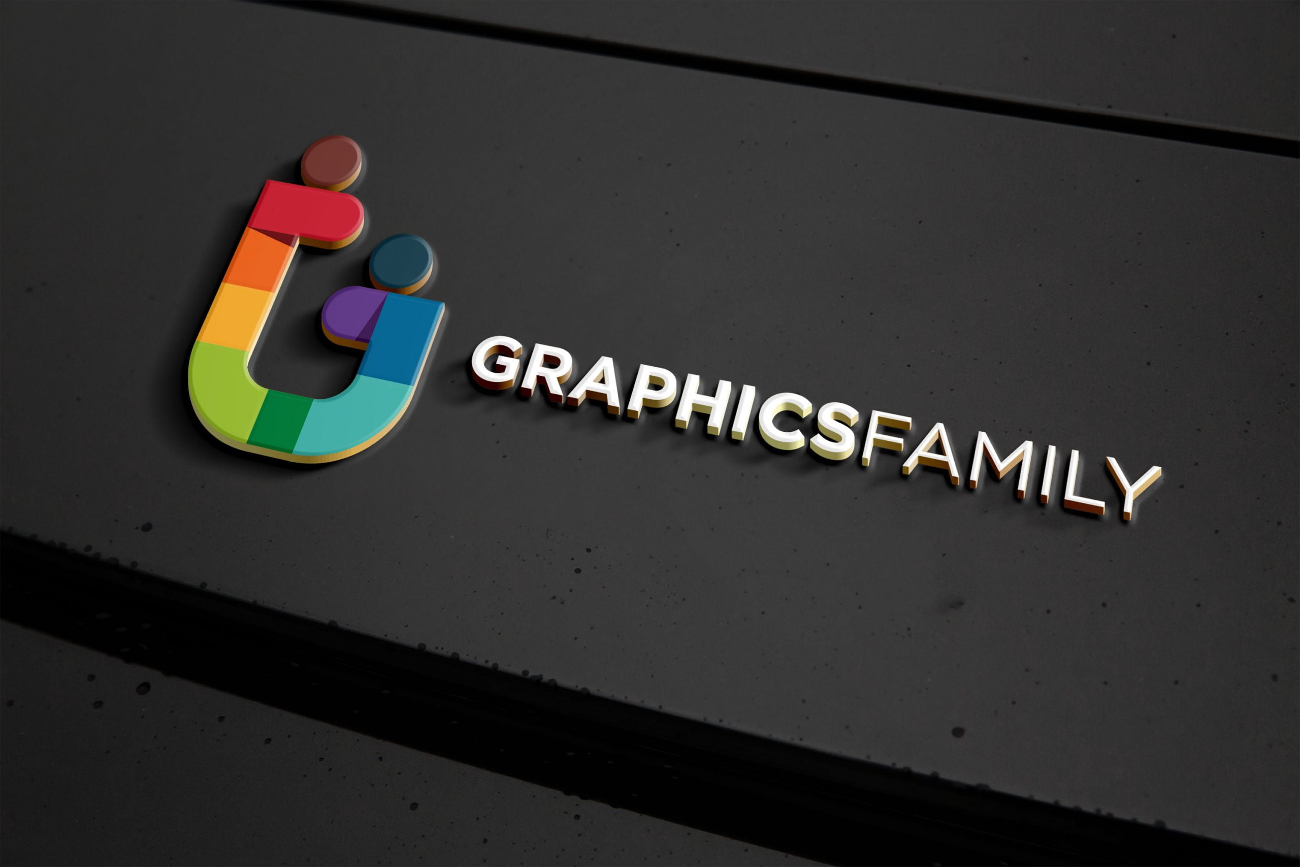 Metal Logo Effect Mockup Graphicfamily