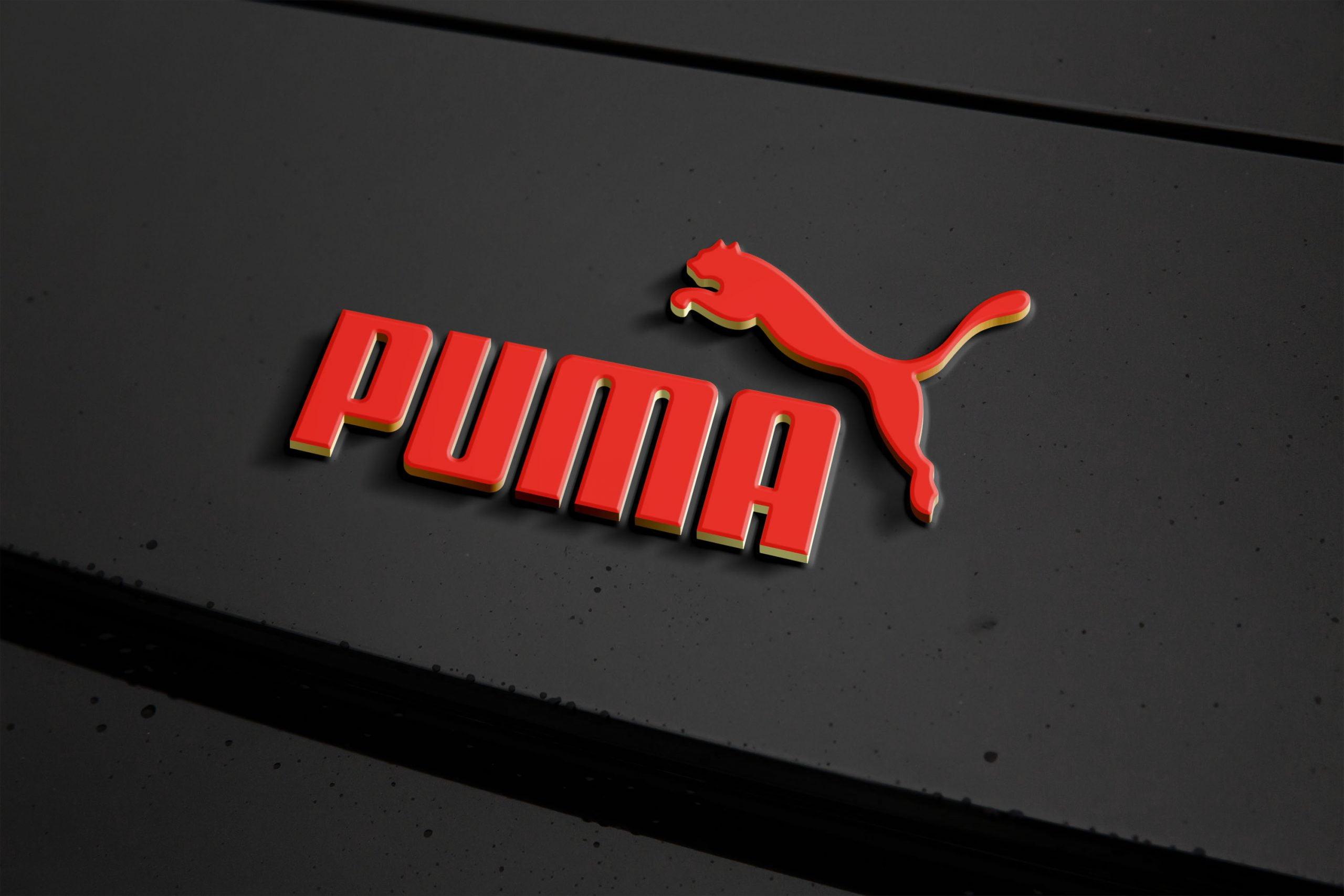 Metal Logo Effect Mockup Puma