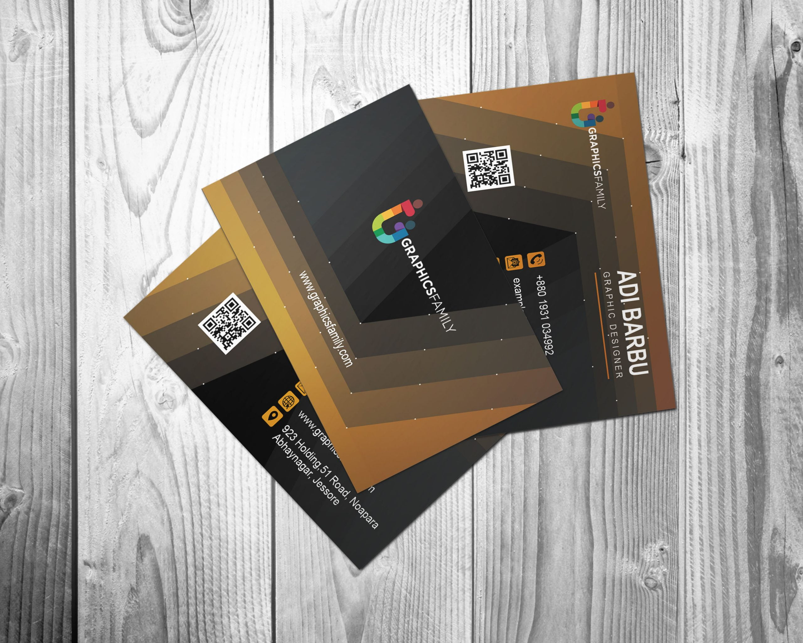 modern graphic designer business card design  graphicsfamily