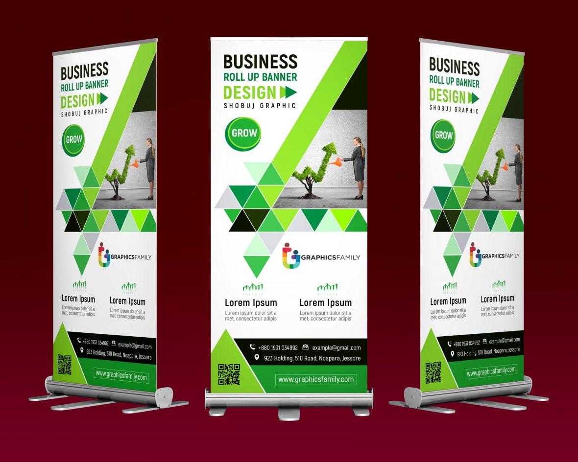 Modern Professional Business Roll Up Banner Design