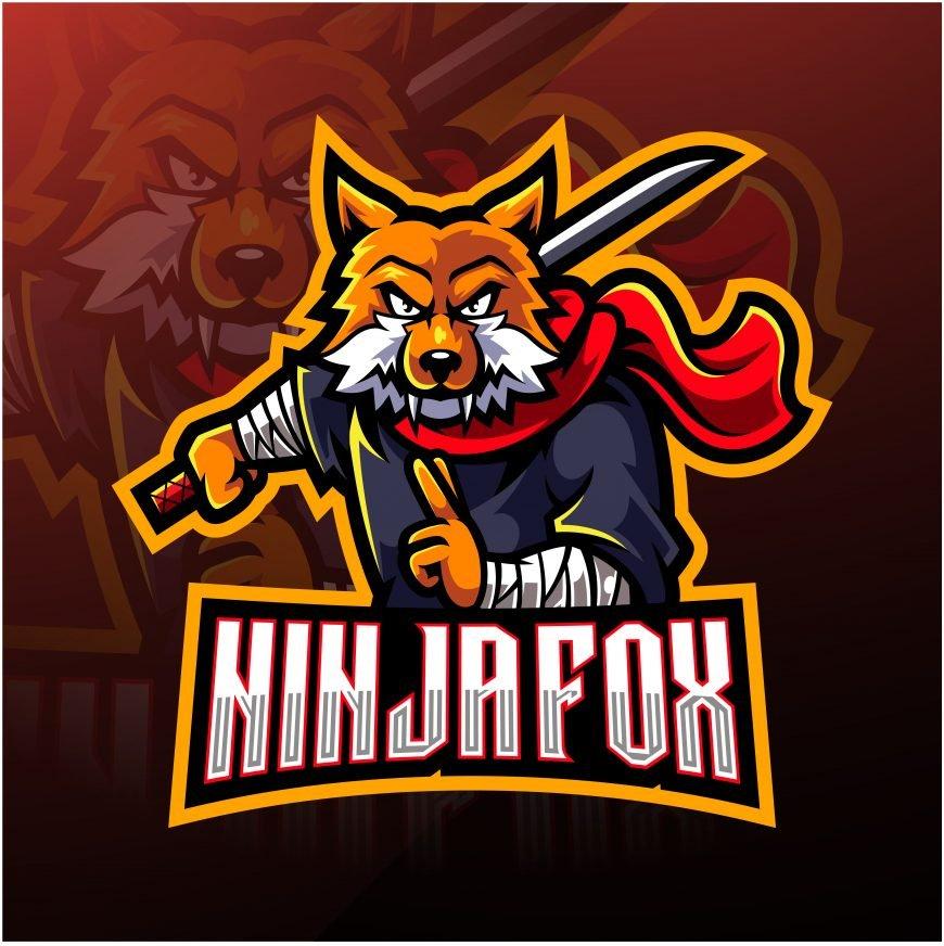 Ninja Fox Mascot Logo