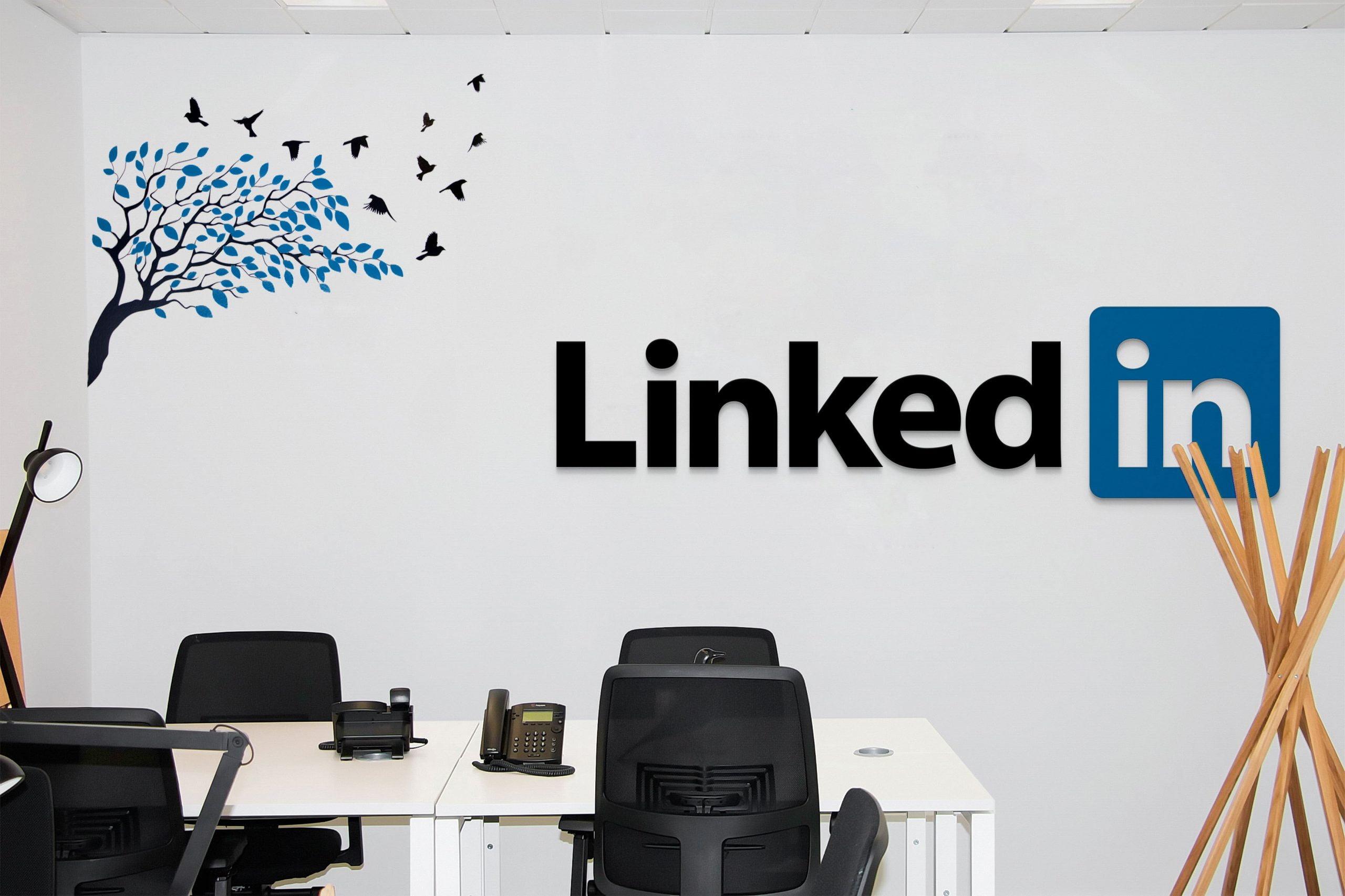 Office Room Mockup Linkedin