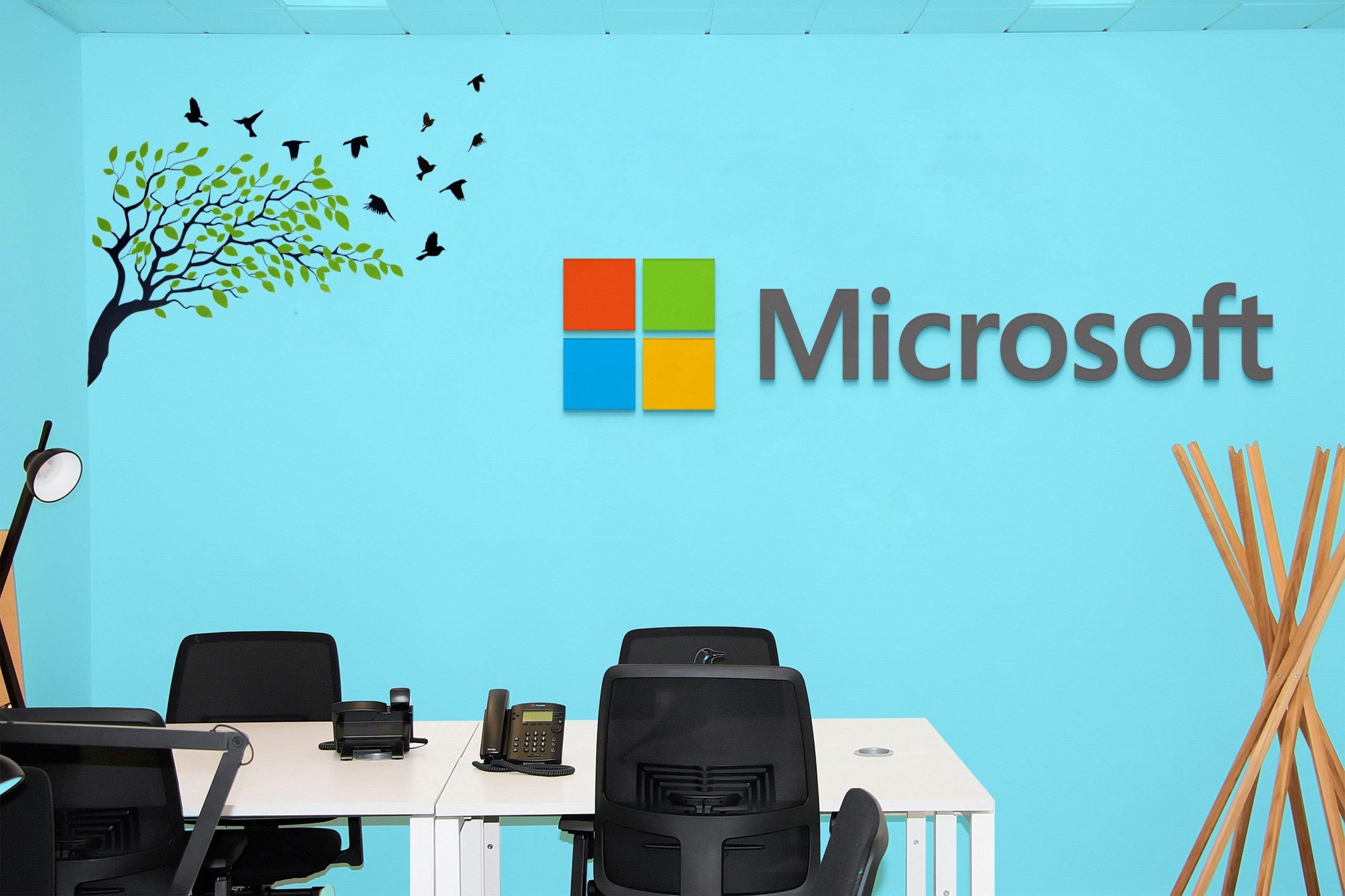 Office Room Mockup Microsoft