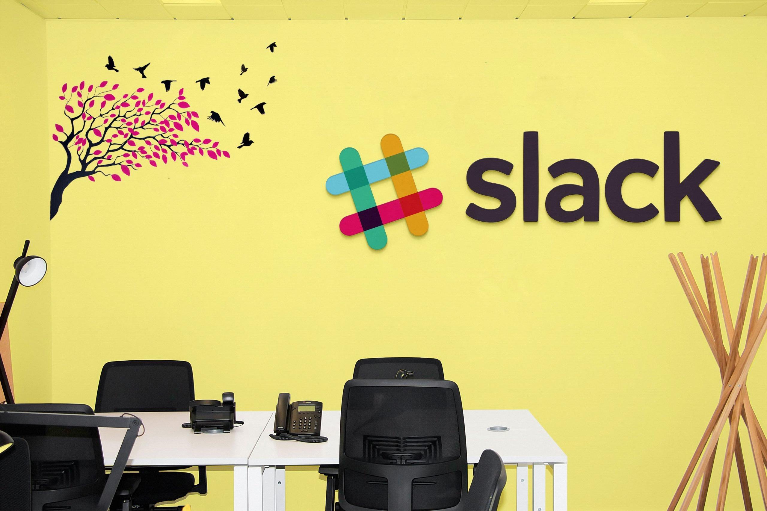 Office Room Mockup Slack