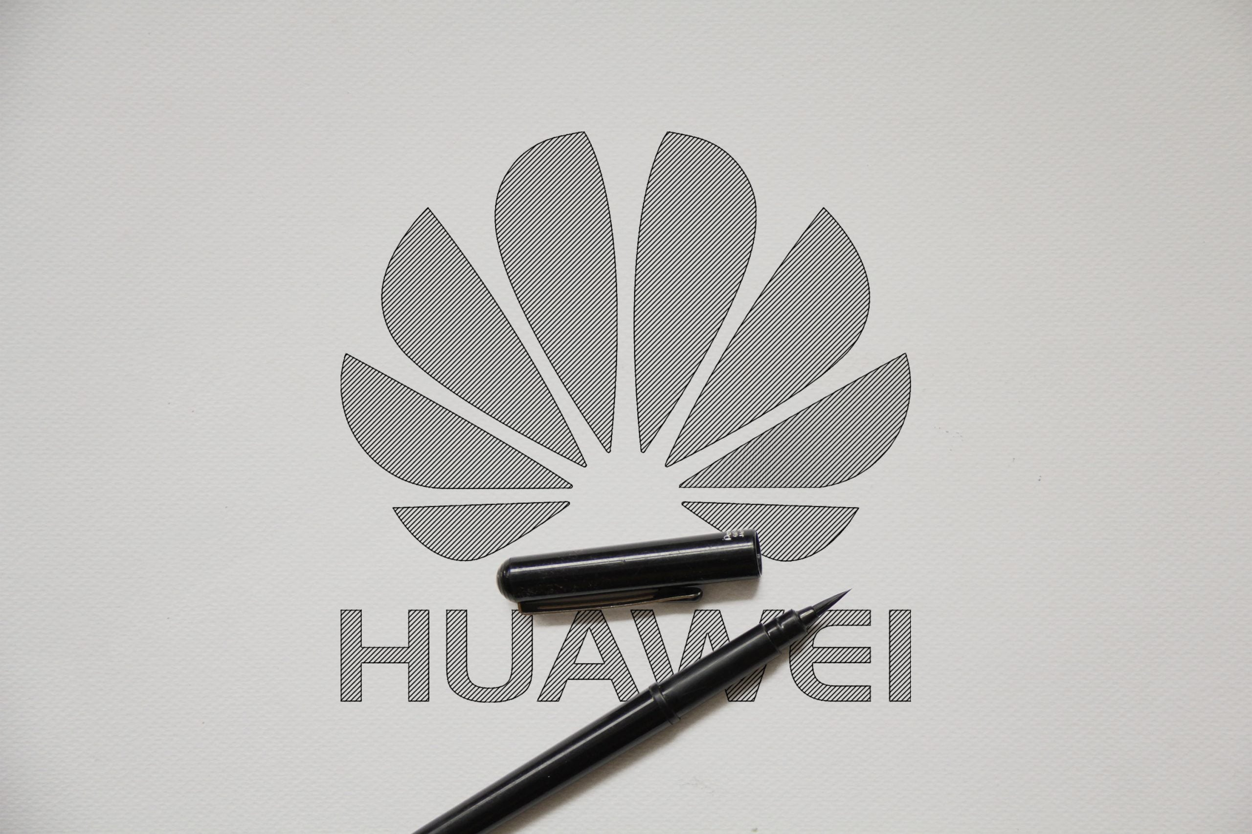 Outline Sketch logo Mockup Huawei