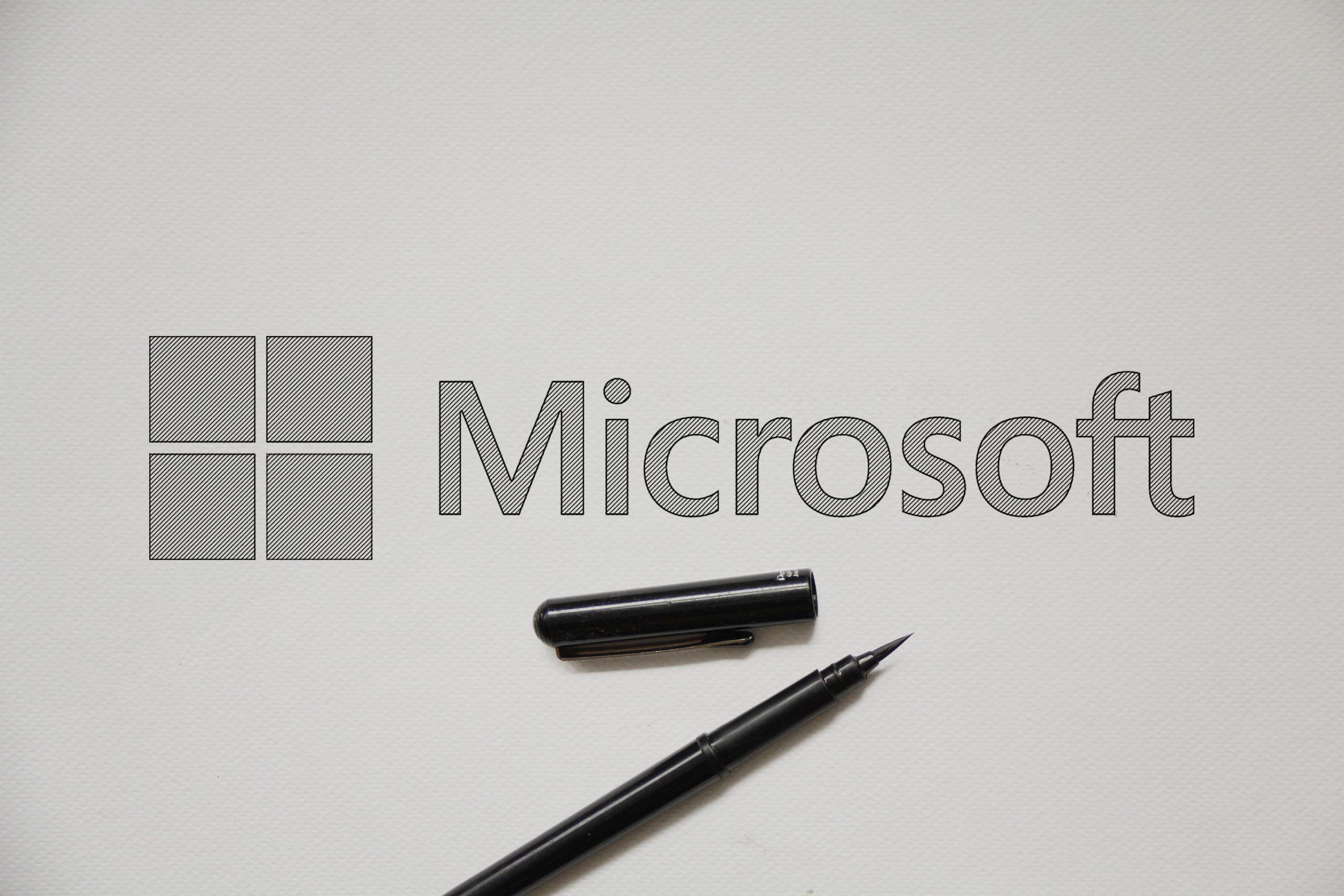 Outline Sketch logo Mockup Microsoft
