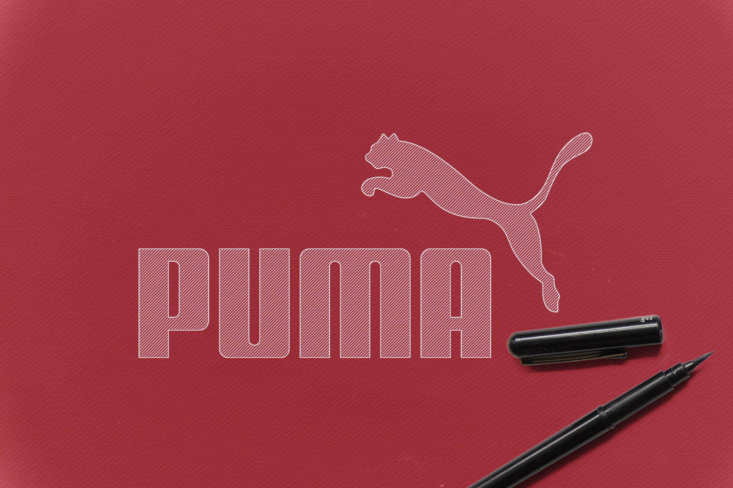Outline Sketch logo Mockup Puma