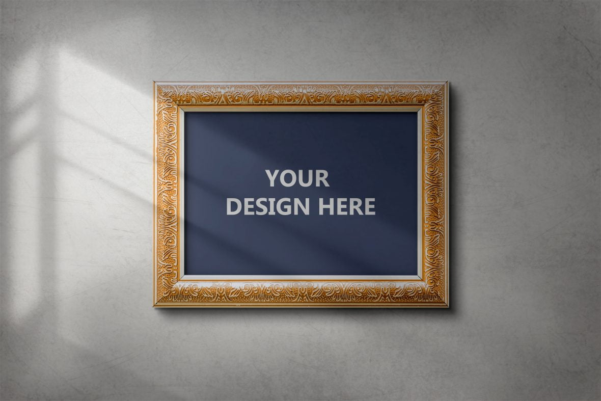 Painting Frame Mockup by GraphicsFamily