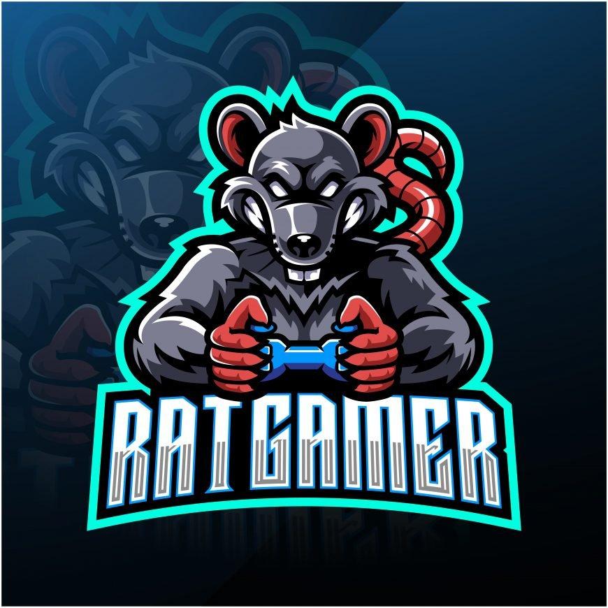 Rat Gamer Esports Mascot Logo