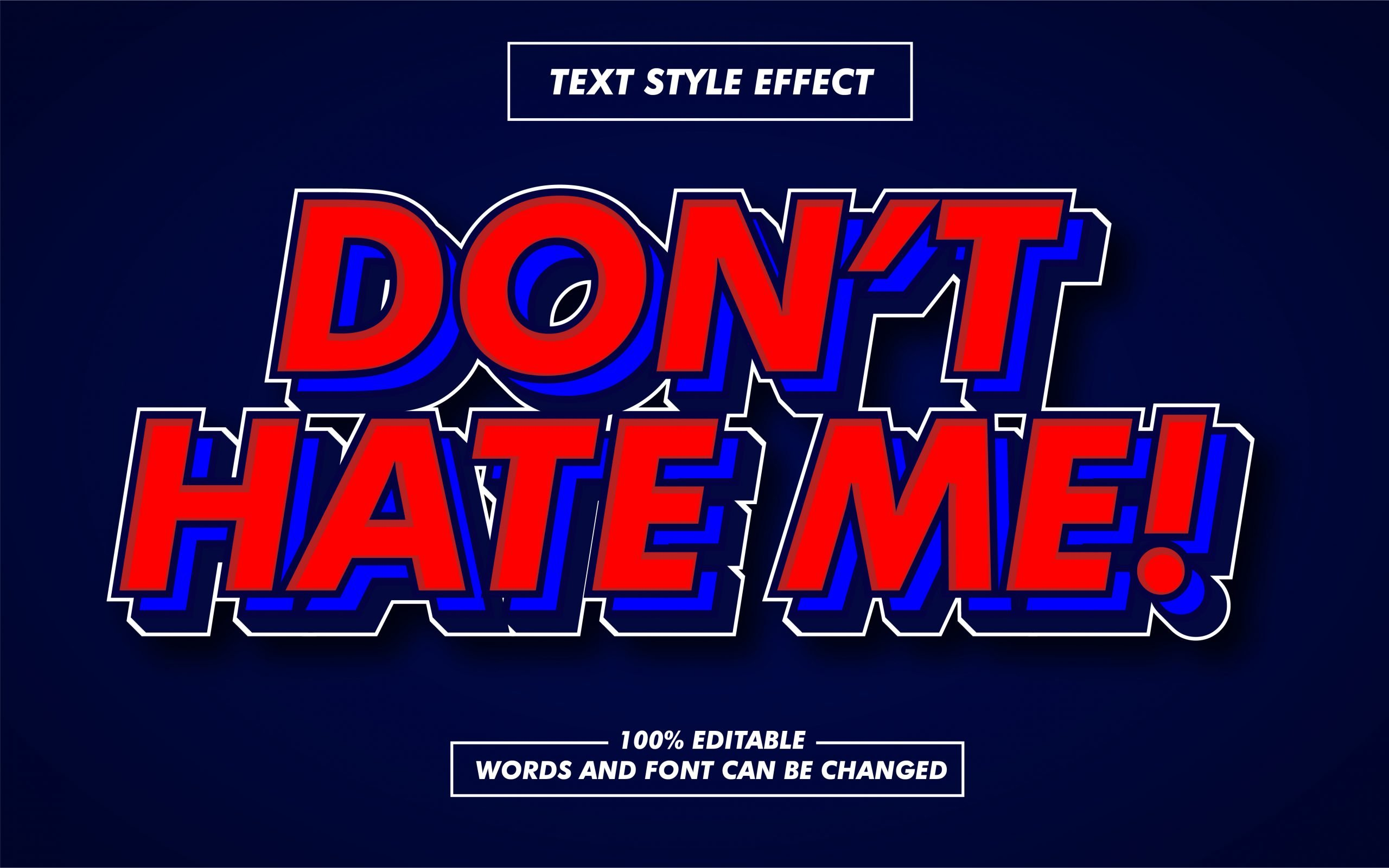 Red Bold Text Style Effect