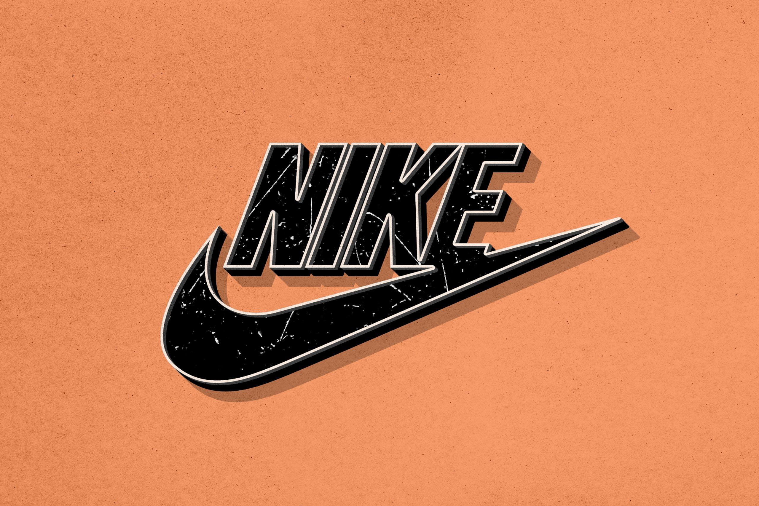 Retro Logo Mockup Nike