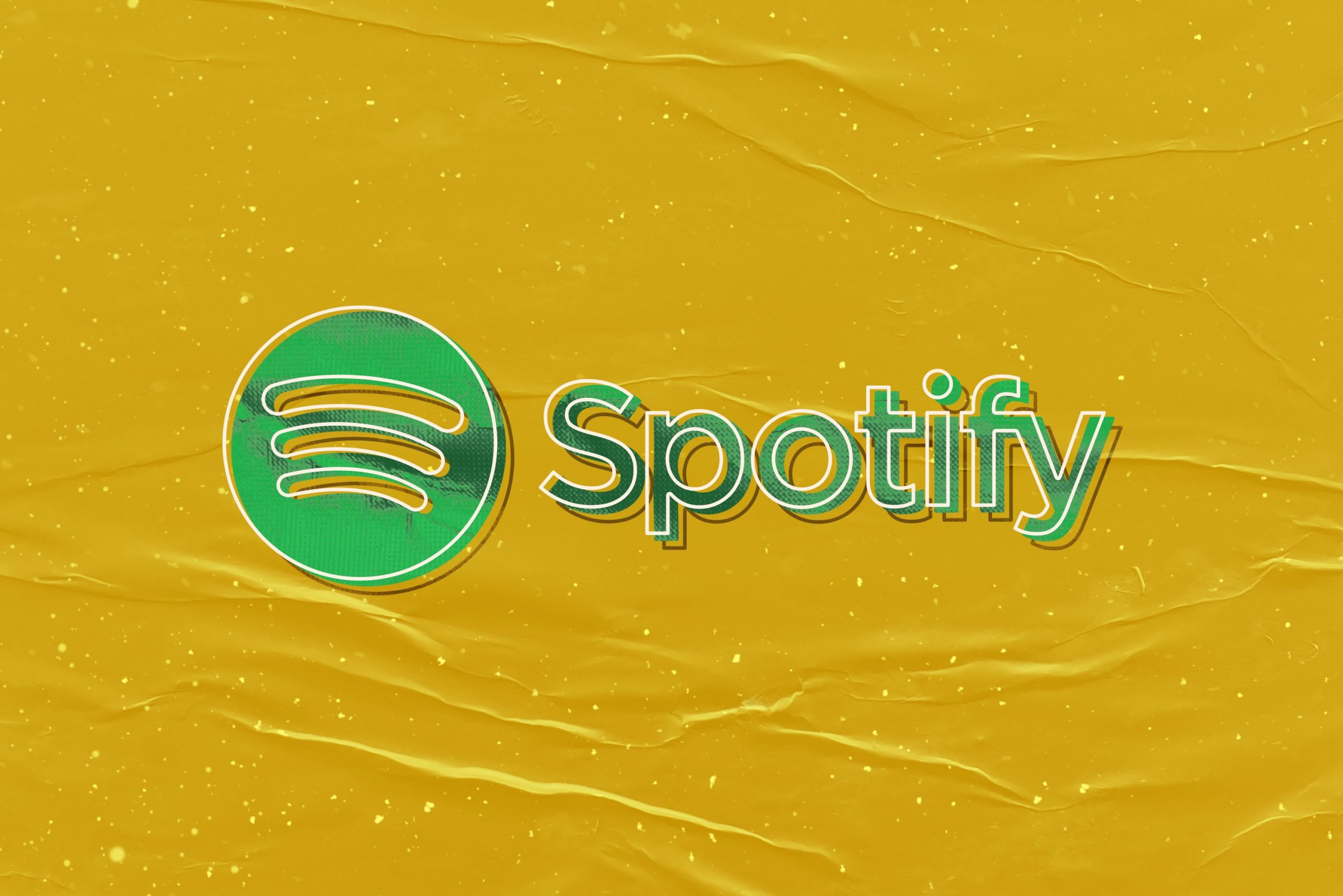 Retro Logo Mockup Spotify
