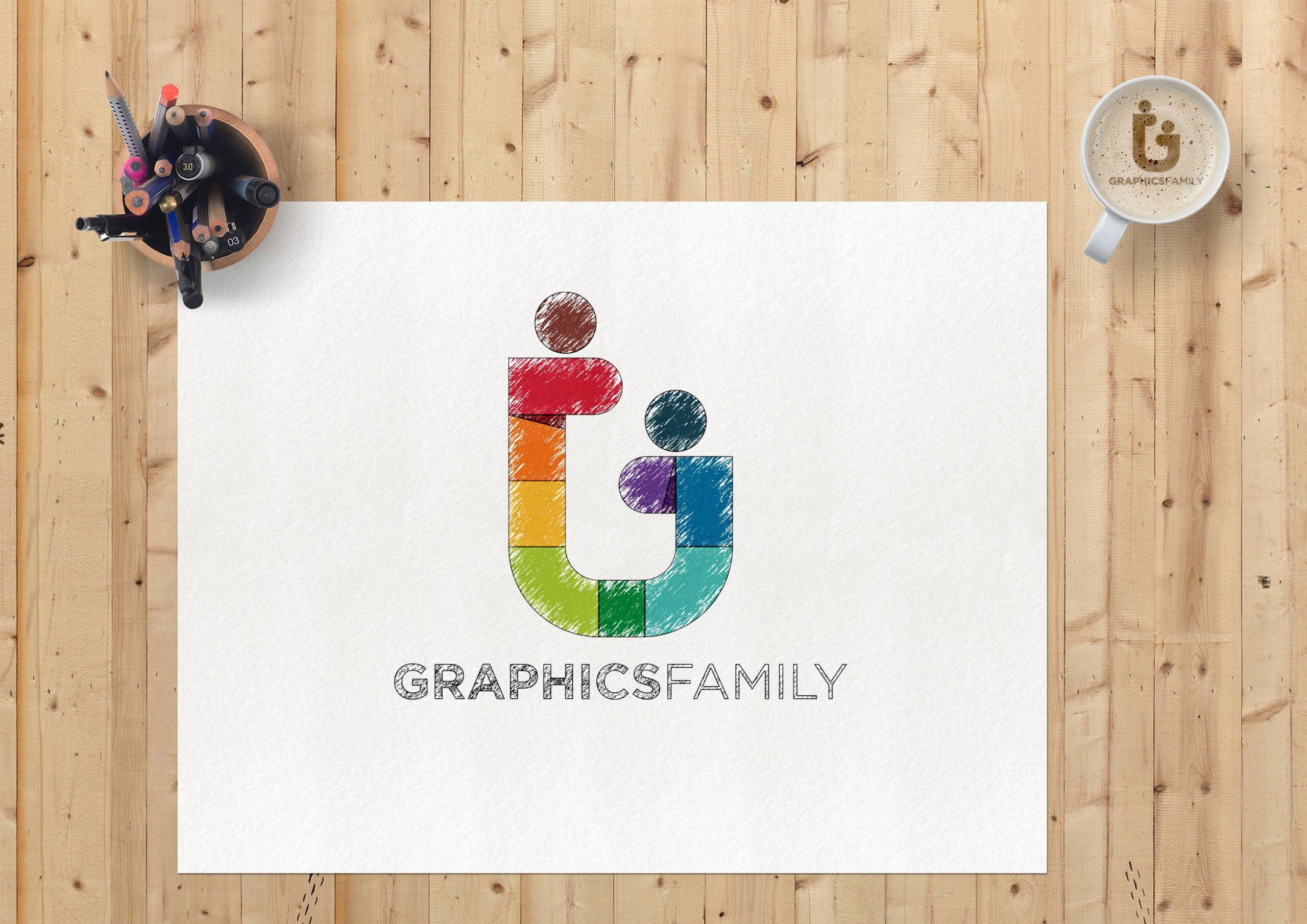 Sketch Paper Logo Mockup Graphicfamily
