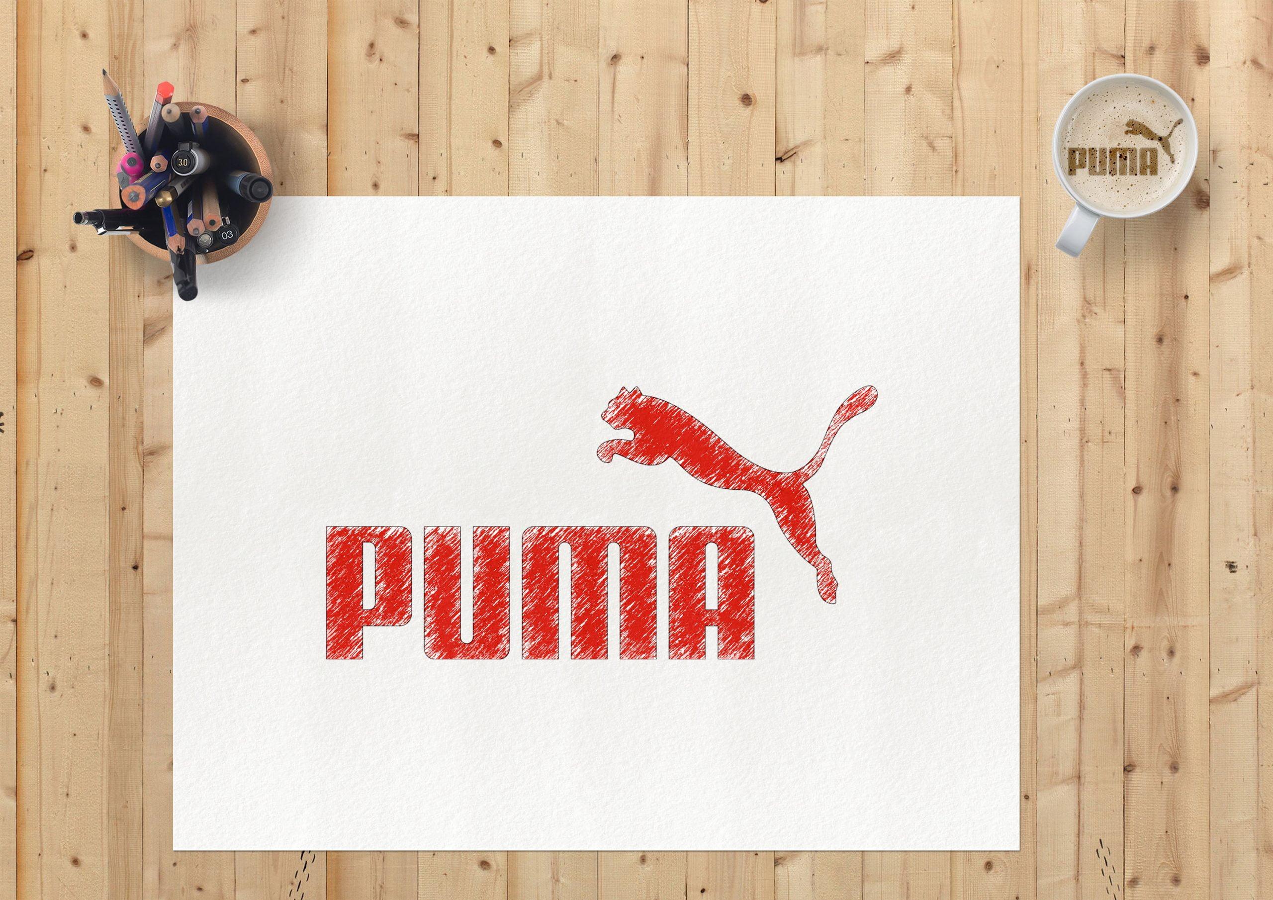 Sketch Paper Logo Mockup Puma