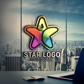 Star Person Logo Design PSD