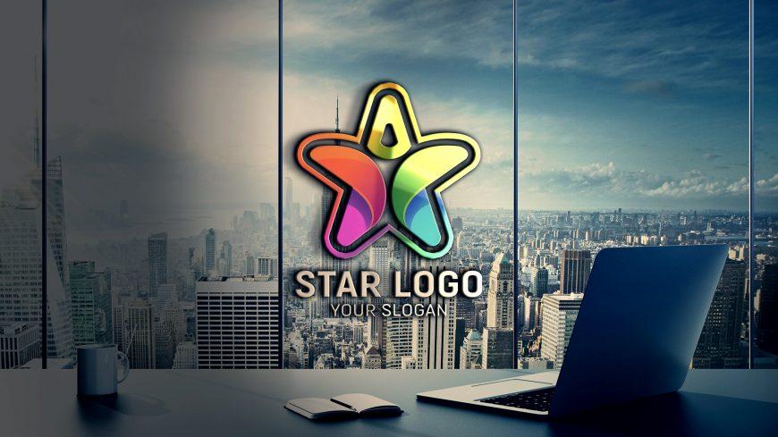 Star Person Logo Design Psd