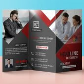 Tri Fold Panel PSD Business Brochure Design
