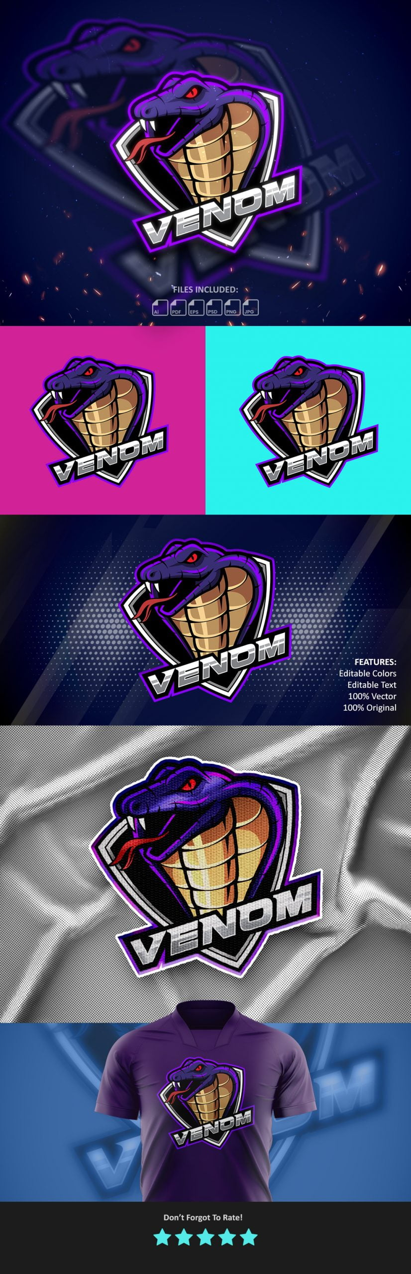 Venom-Esports-Mascot-Gaming-Logo